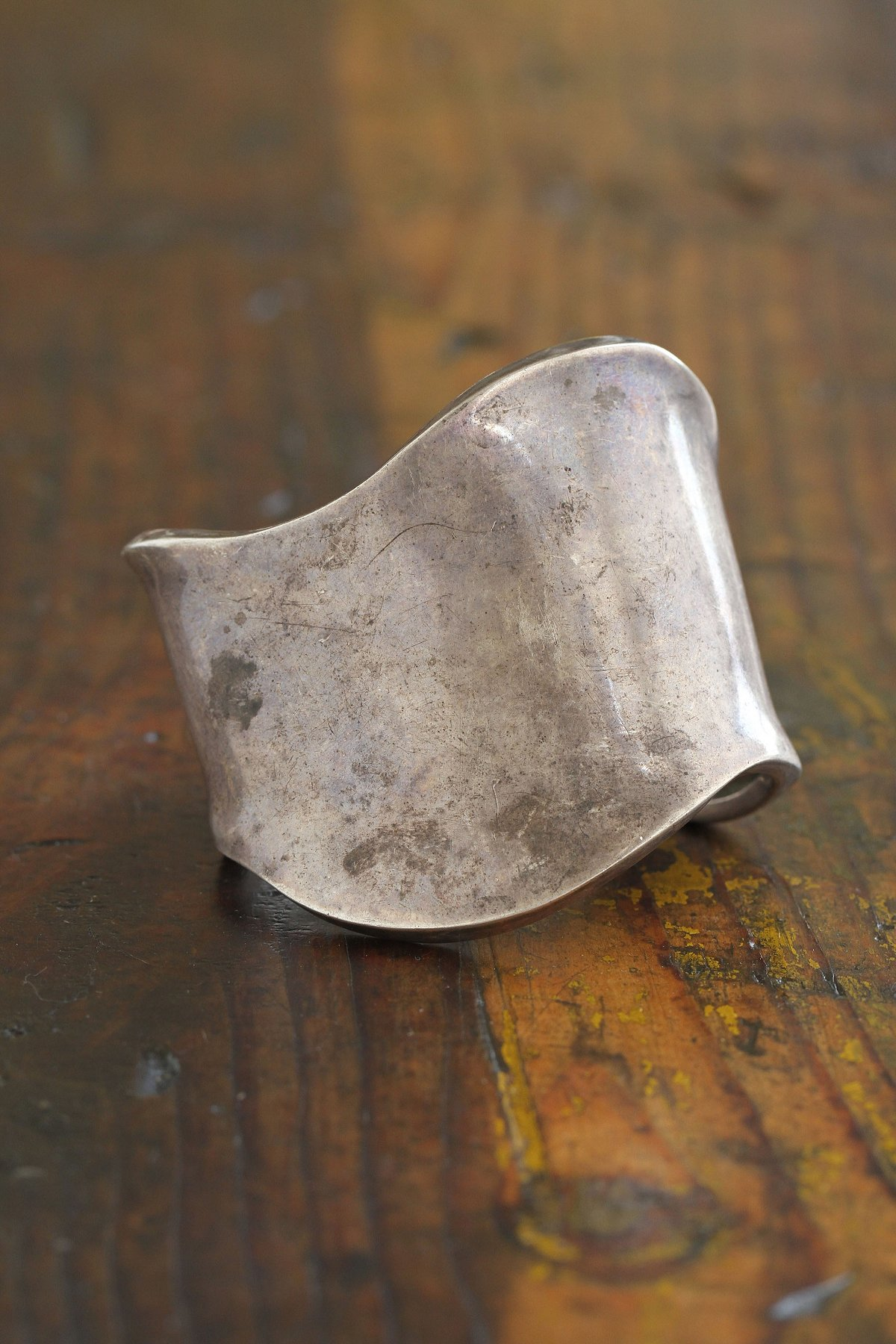 Vintage Distressed Metal Cuff