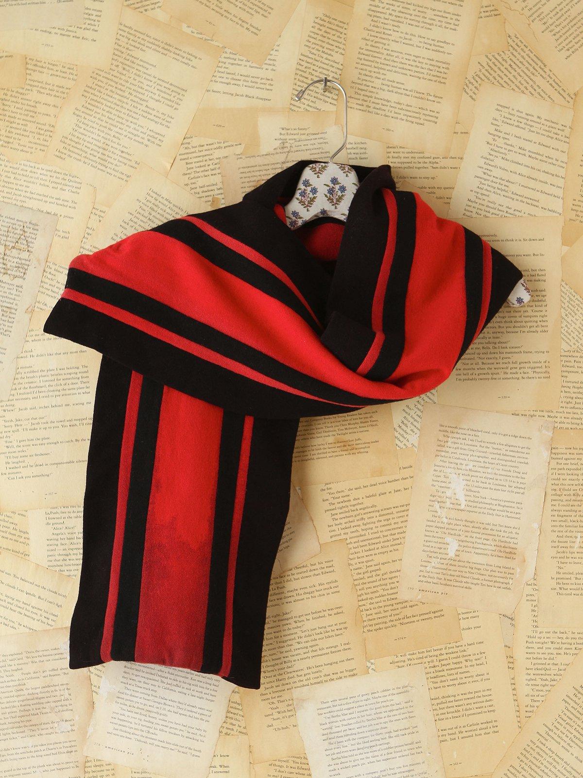 Vintage Wool Striped Scarf
