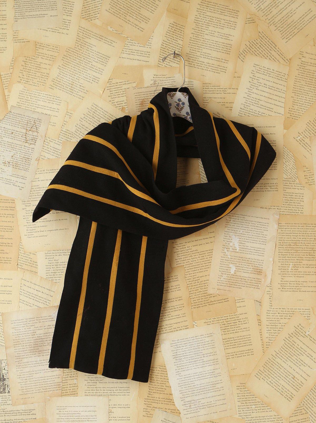 Vintage Wool Blend Striped Scarf
