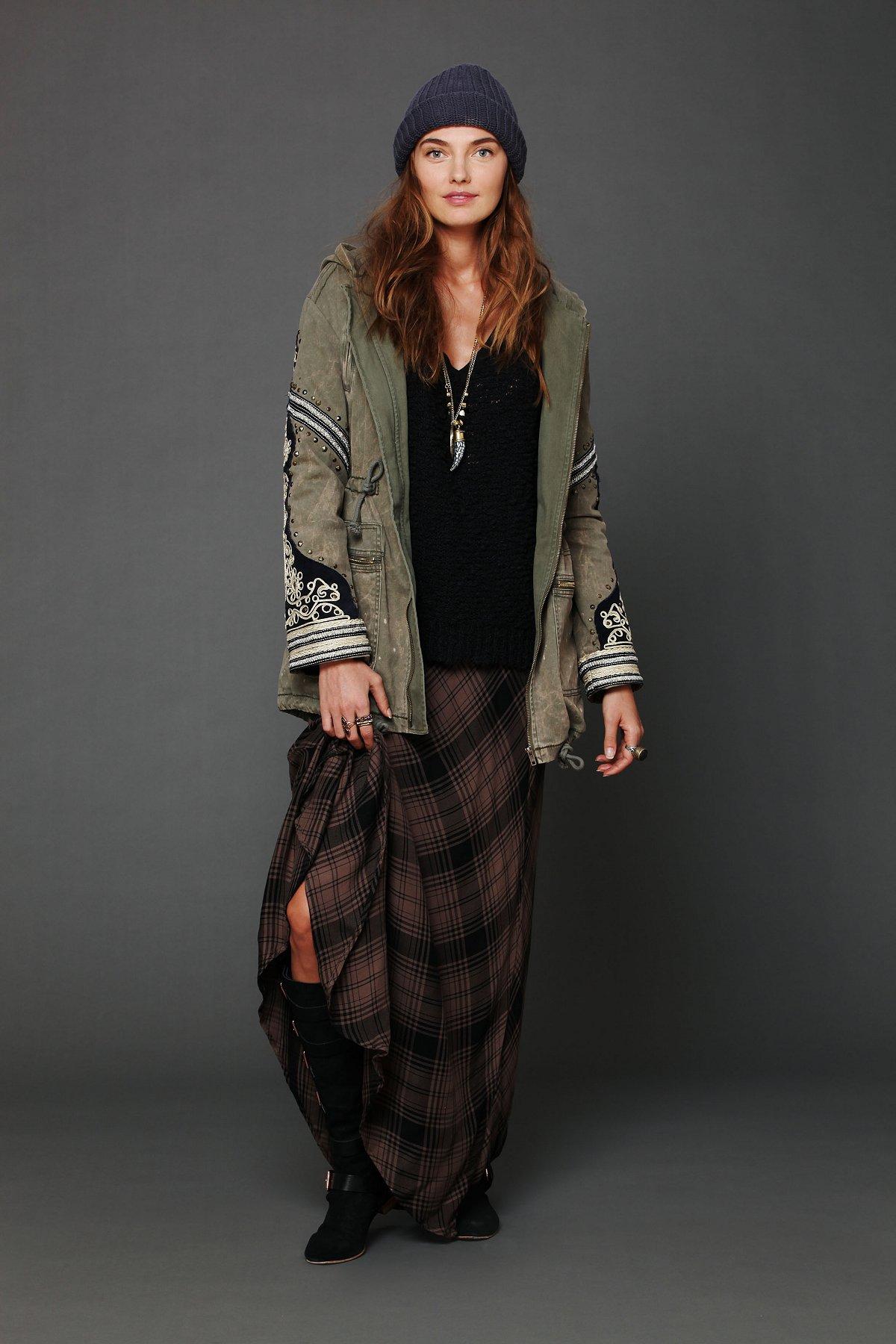 Cameron Plaid Maxi Skirt