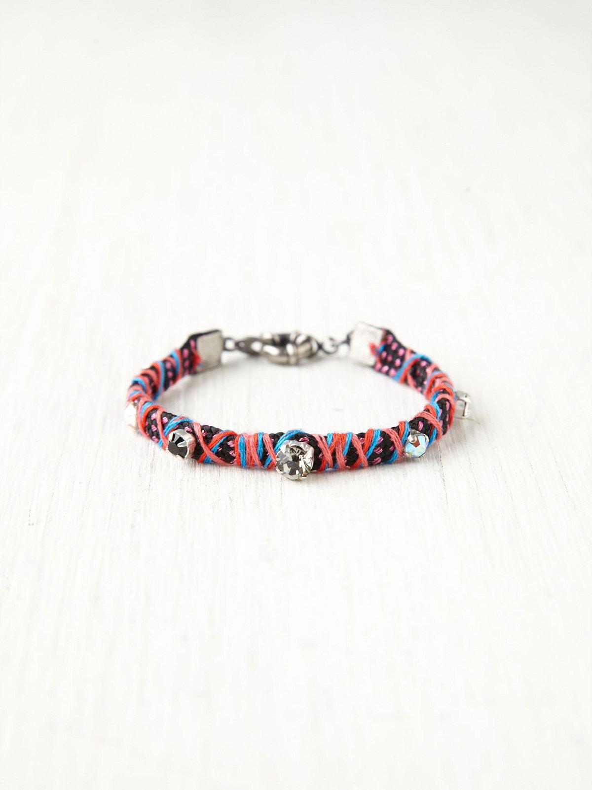 Rhinestone Studded Friendship Bracelet
