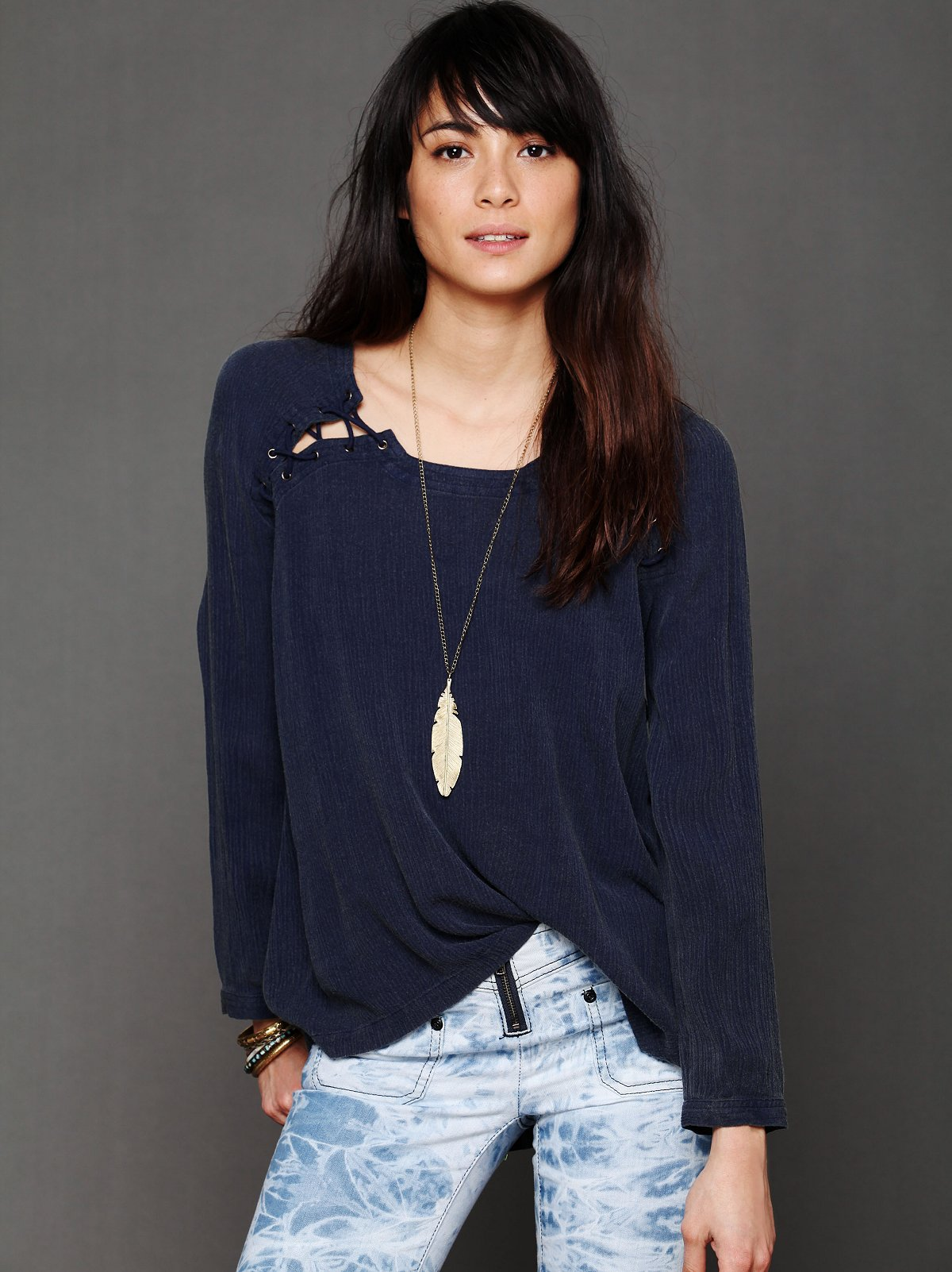 Lace Up Back Top