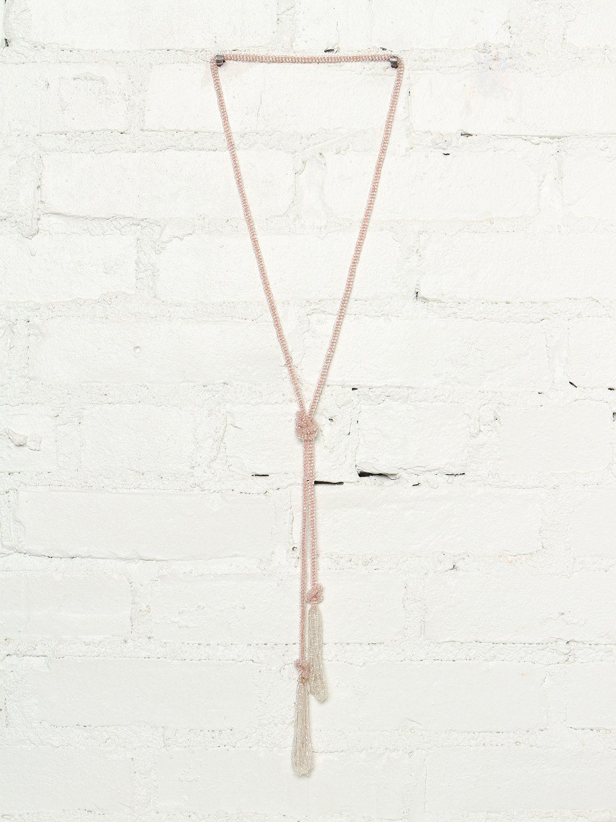 Vintage Beaded Lariat Necklace