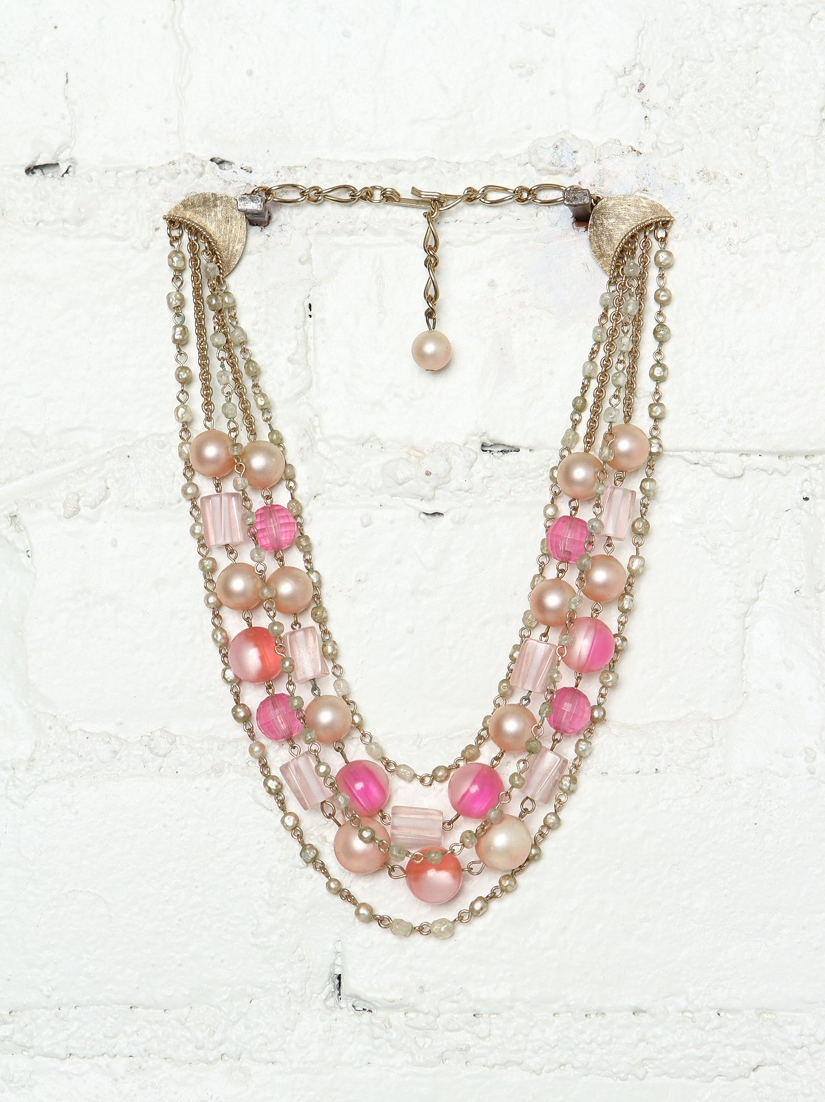 Vintage Costume Layered Pearl Necklace