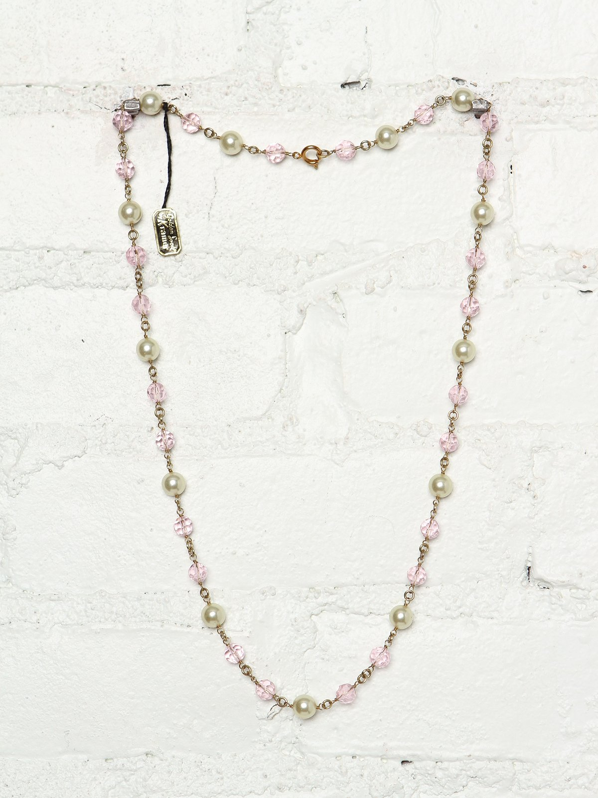 Vintage Costume Bead and Pearl Necklace