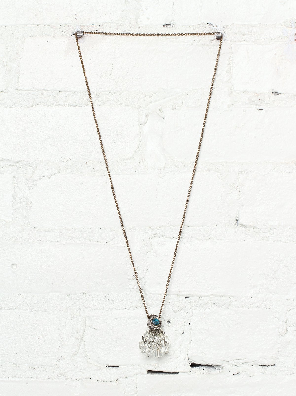 Vintage Handmade Dangling Crystal Necklace