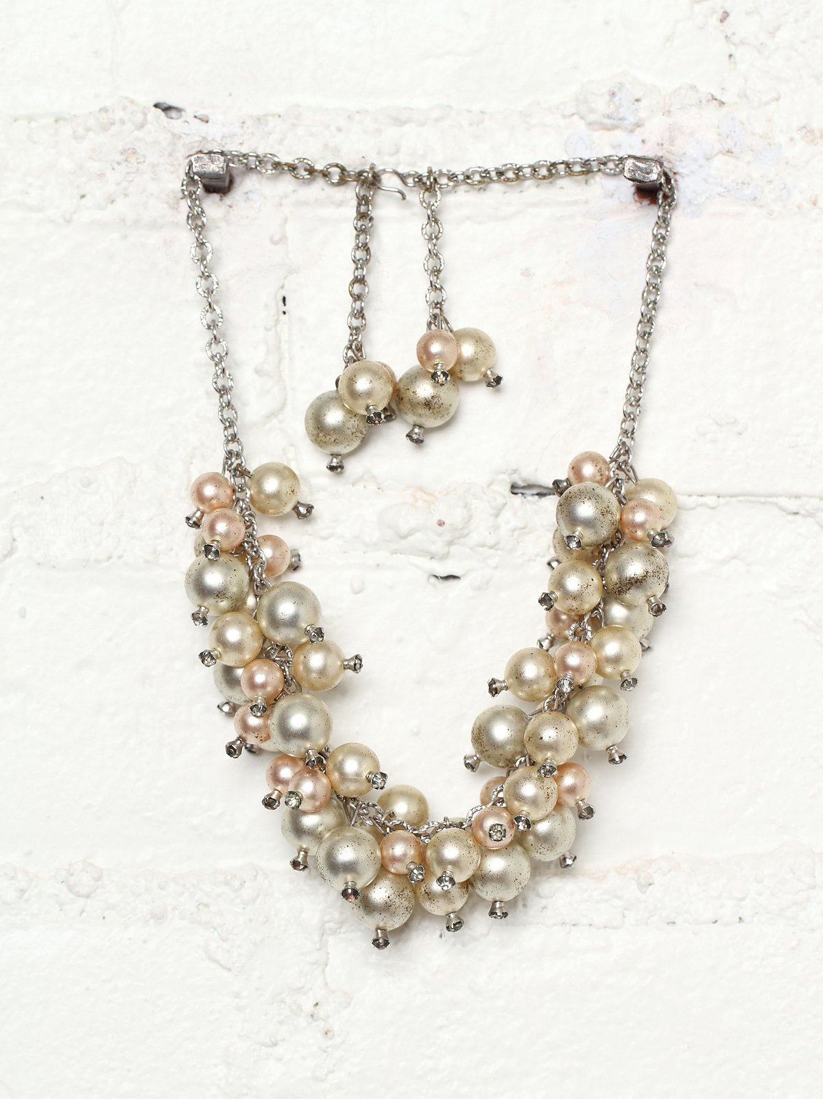 Vintage Cluster of Pearls Necklace
