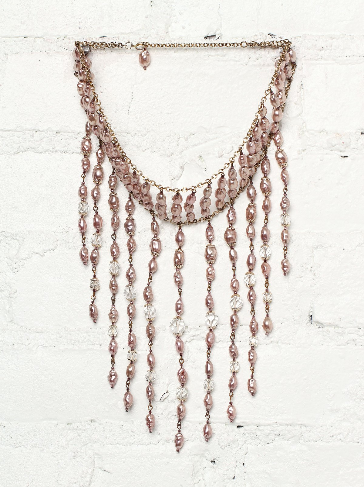 Vintage Pink Genuine Pearl Necklace