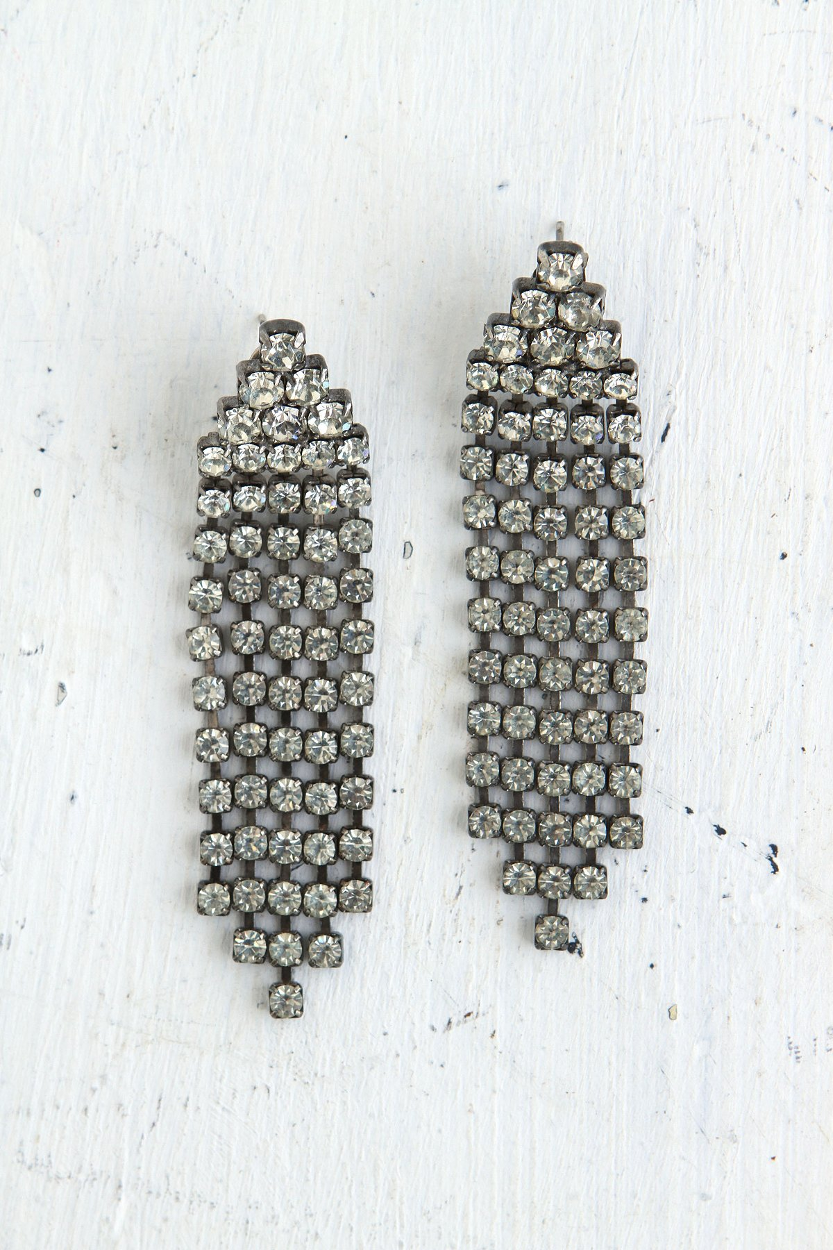Vintage Crystal Rhinestone Dangle Earrings