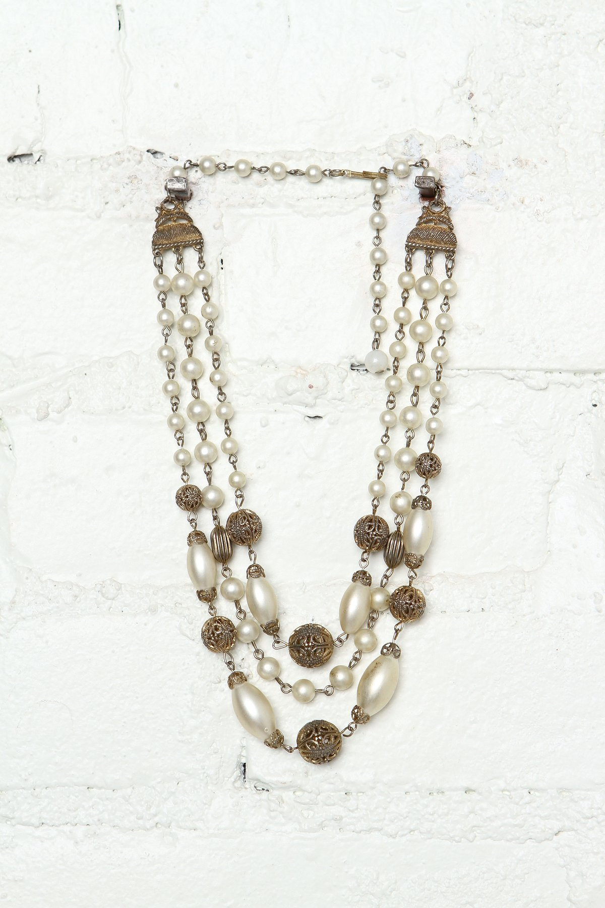 Vintage Costume Pearl Bead Necklace