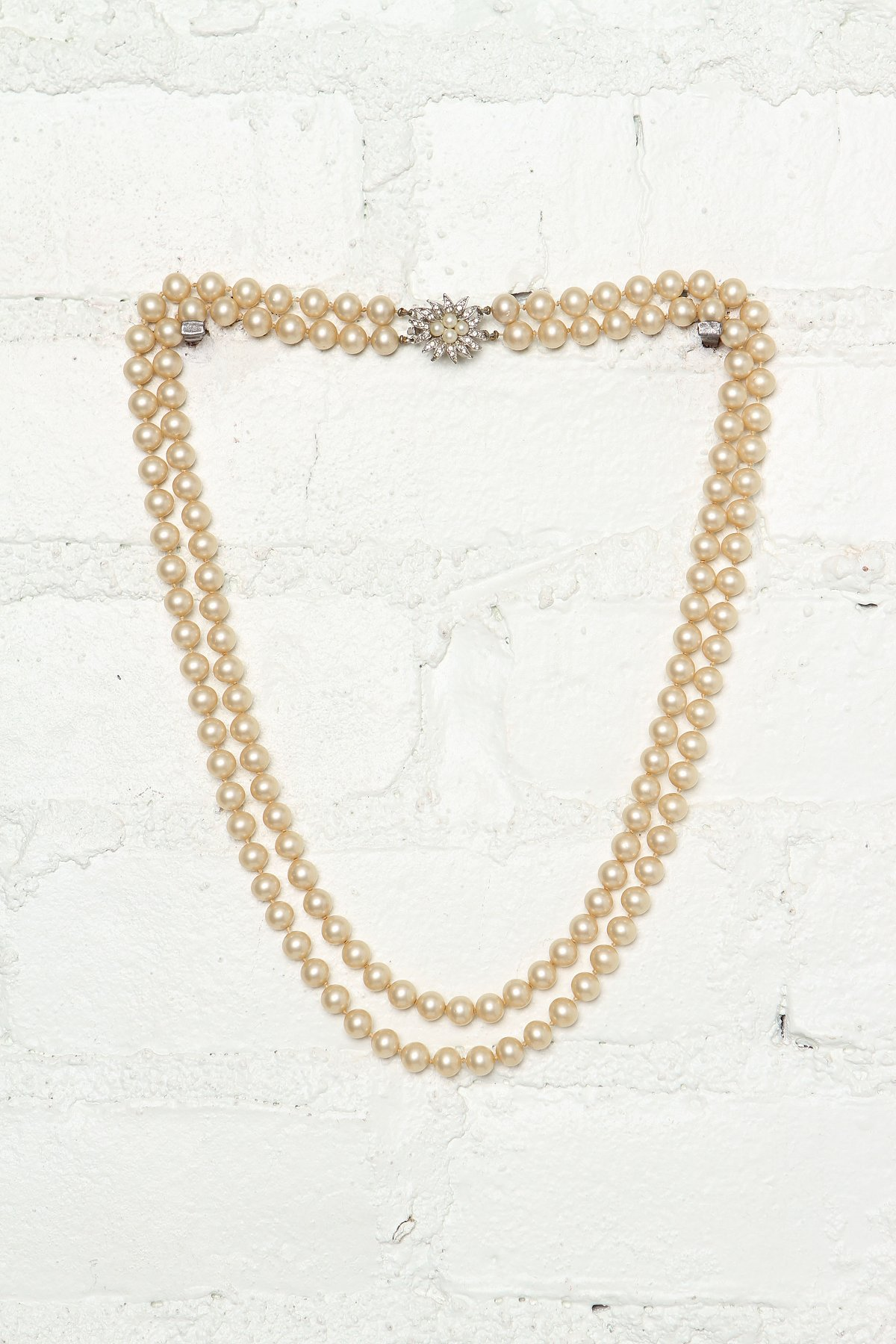 Vintage Double Tiered Pearl Necklace