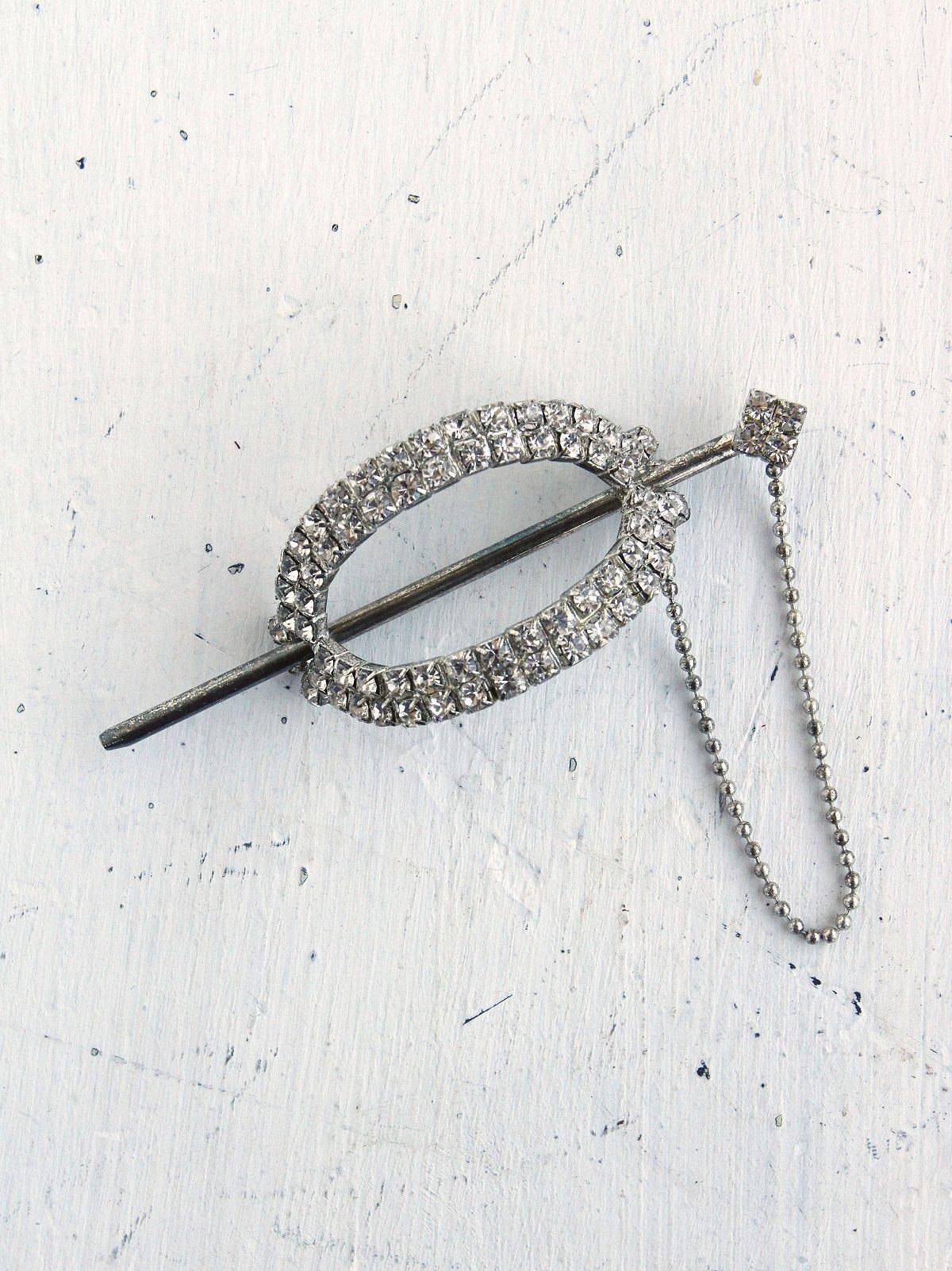 Vintage Crystal Stone Ponytail Holder