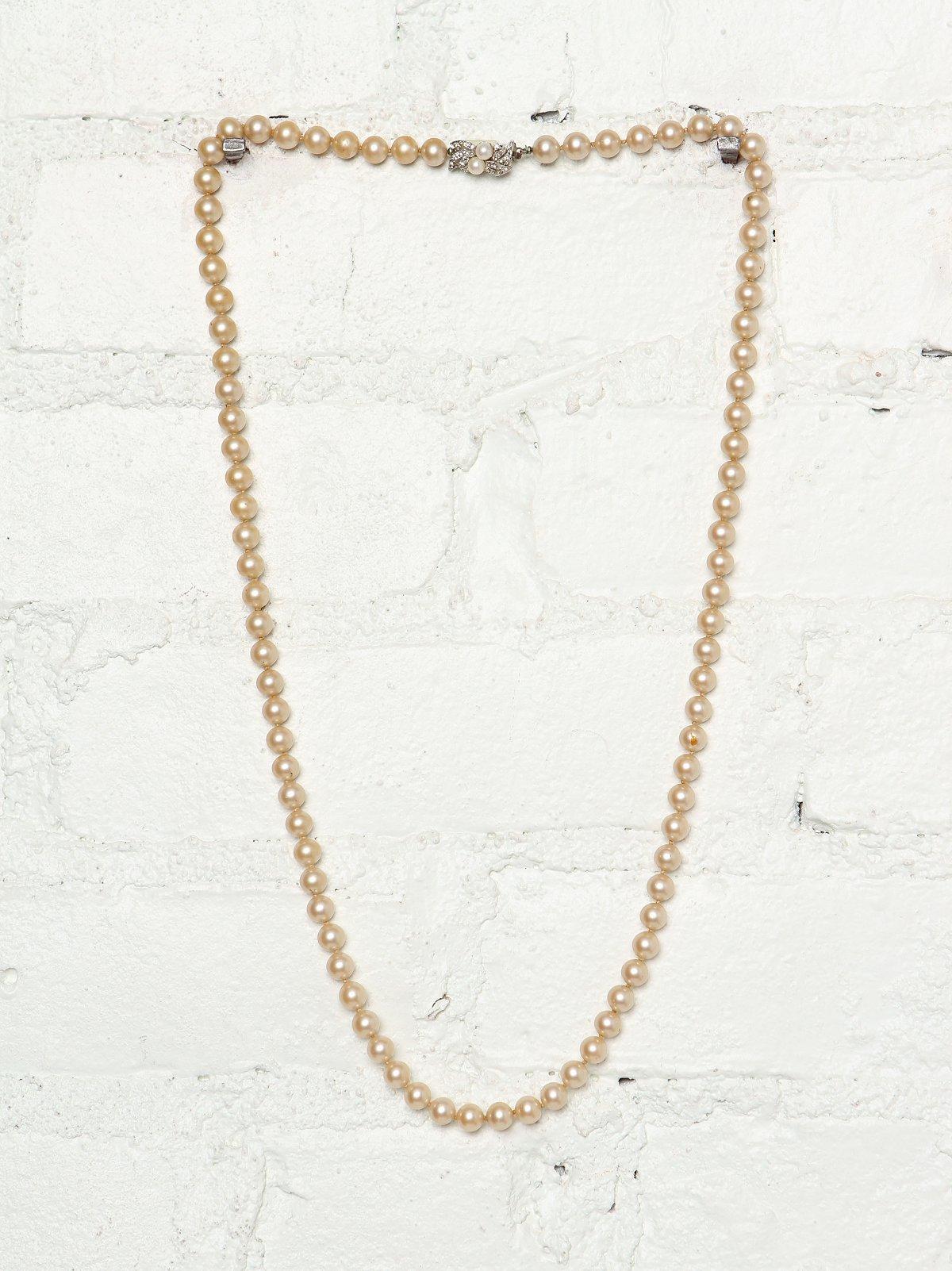 Vintage Double Wrap Pearl Necklace
