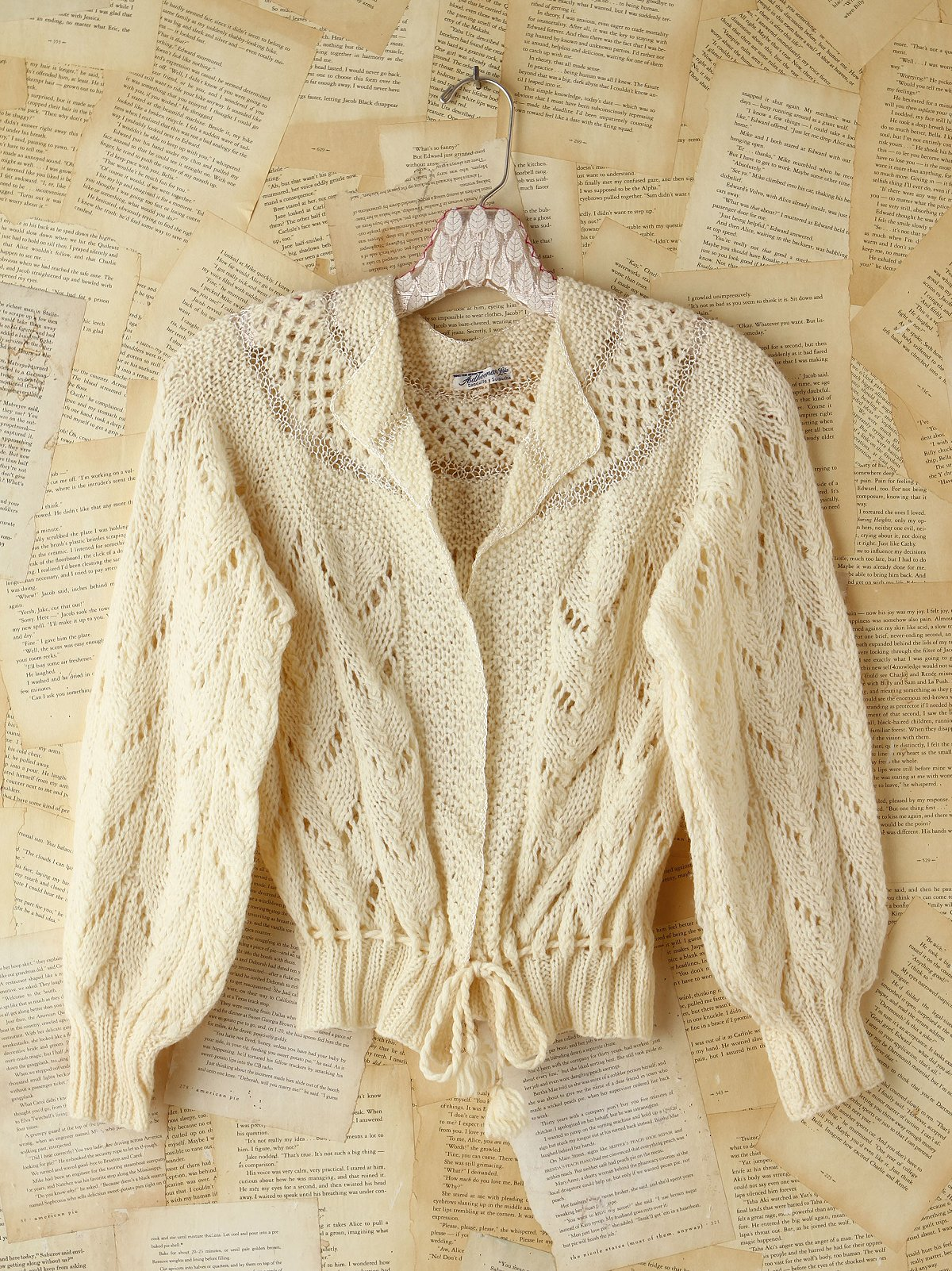 Vintage Cream Knit Sweater