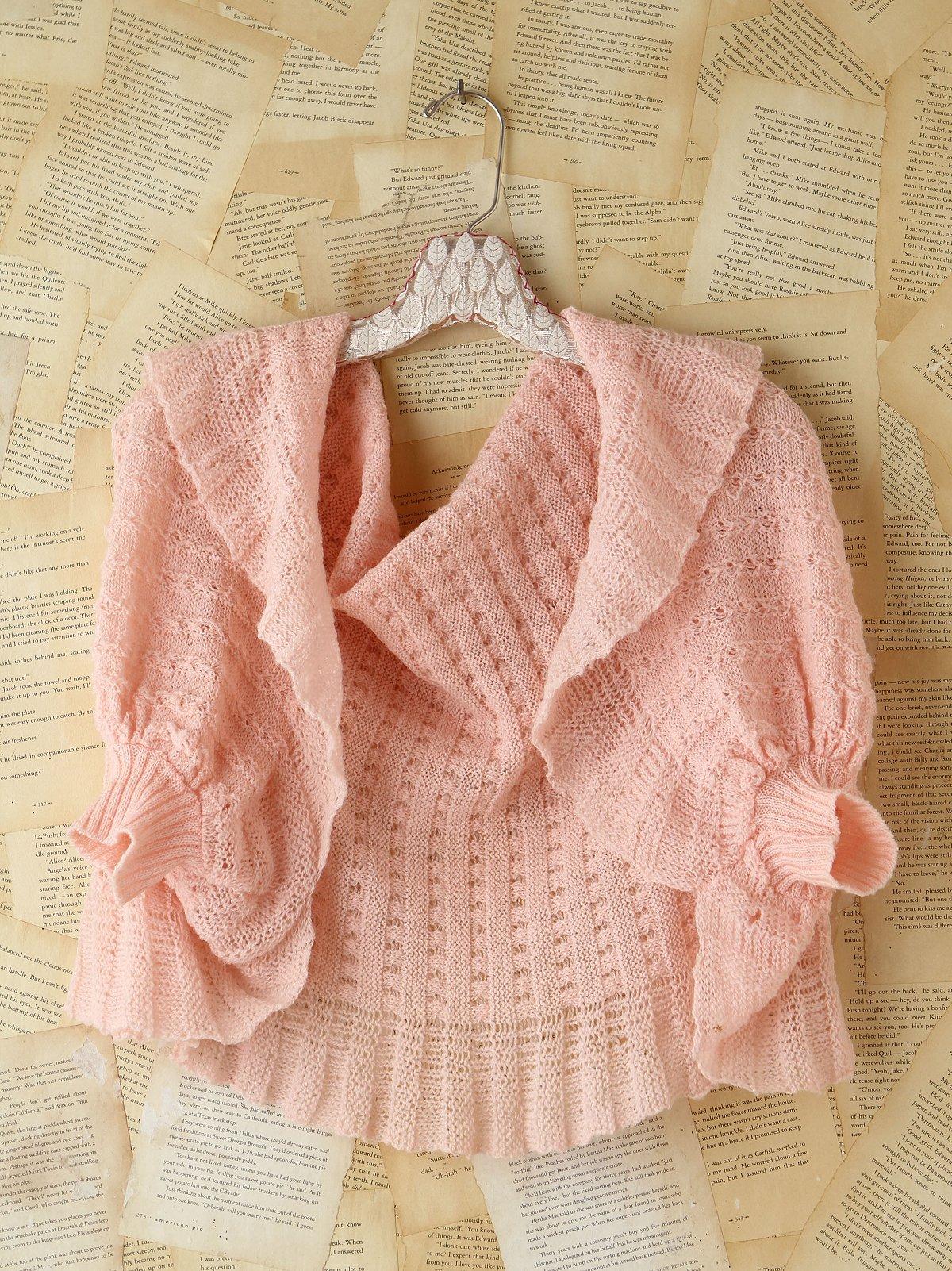 Vintage Pink Knit Sweater Cardigan