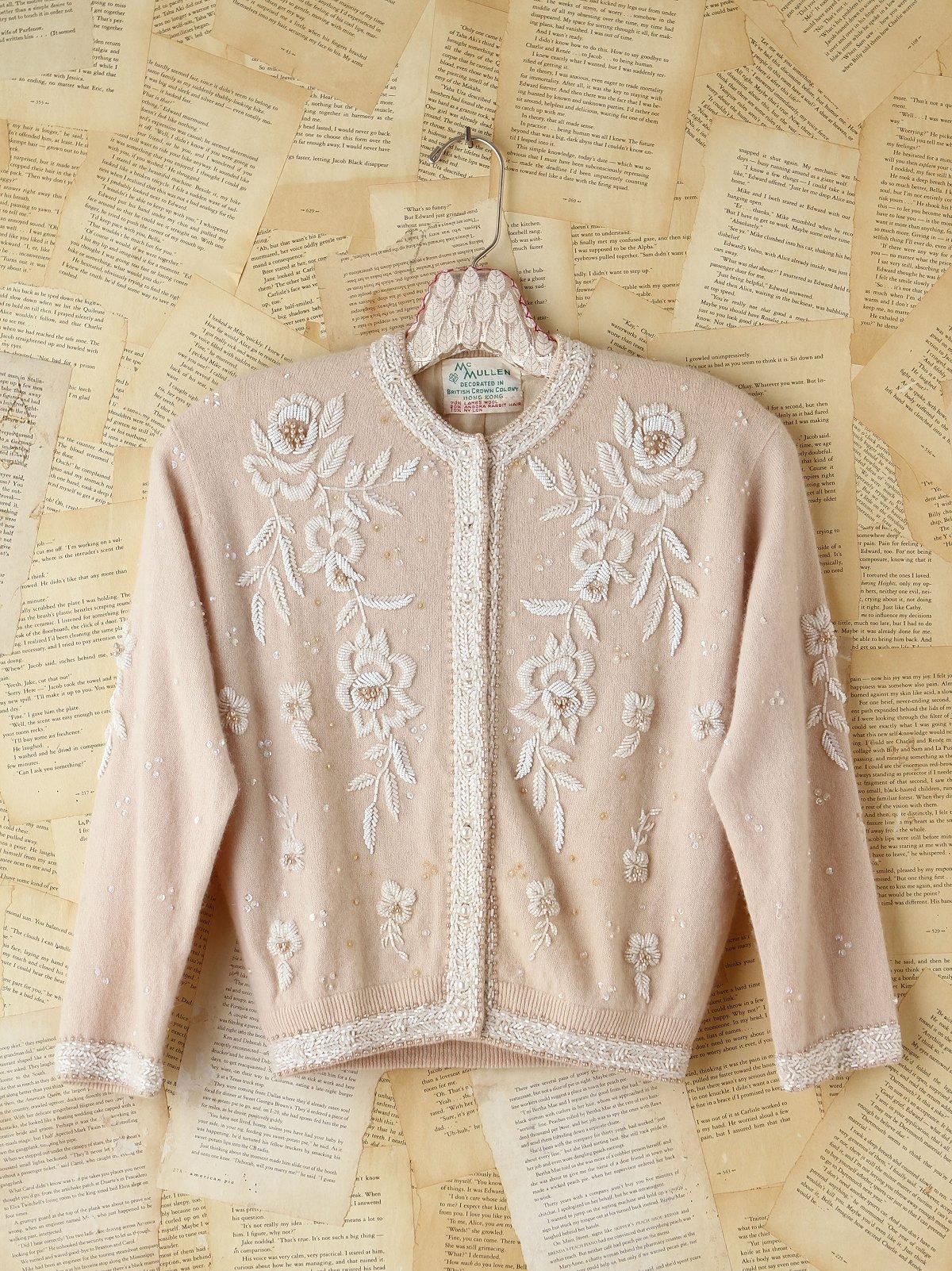 Vintage Bead Embellished Cardigan