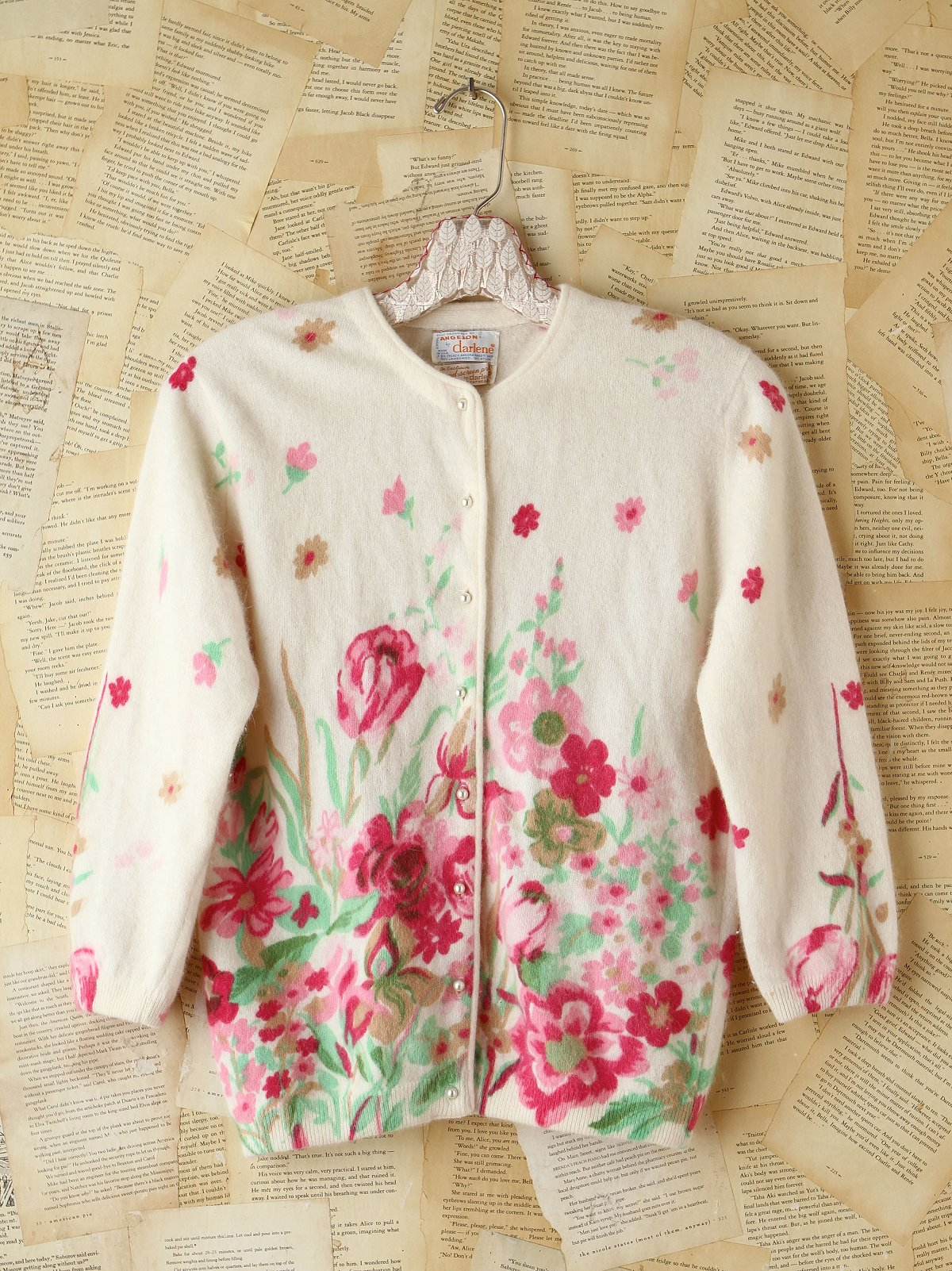 Vintage Floral Patterned Cardigan
