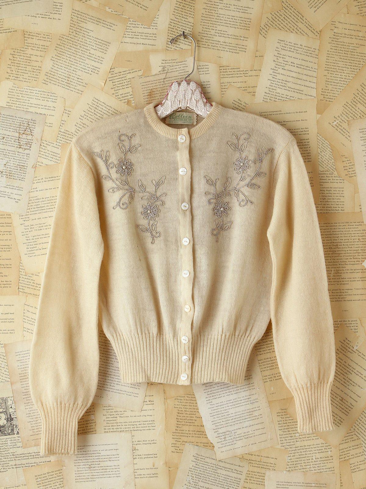 Vintage Embellished Wool Sweater