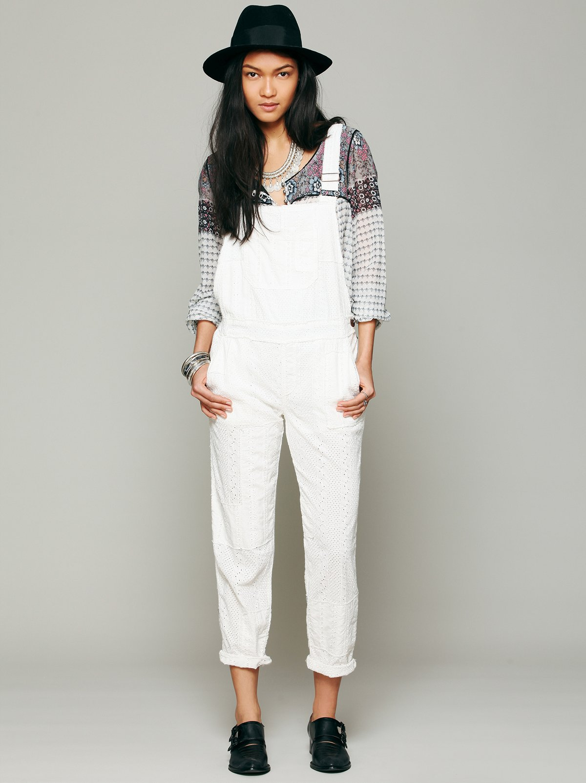 Straight Eyelet Overall