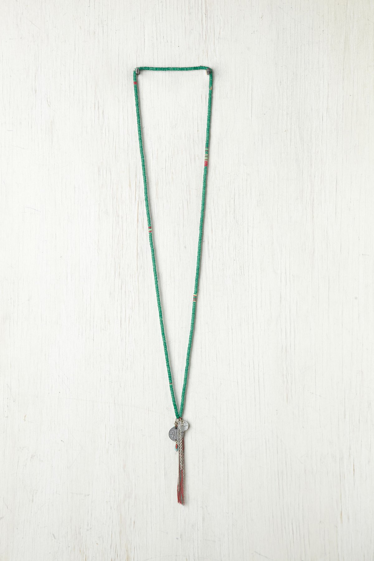 Long Sequin Tassel Necklace