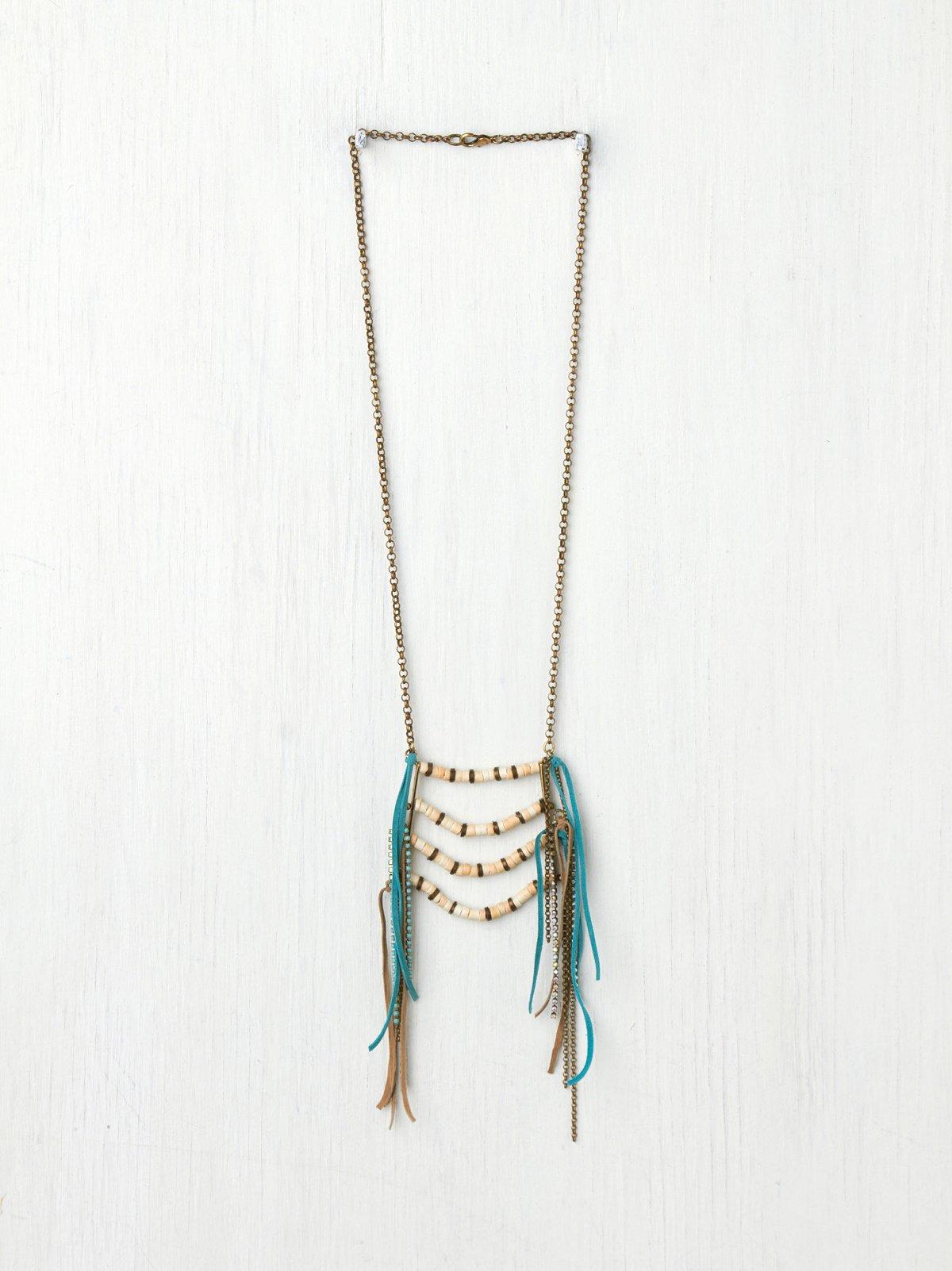 Suede Fringe Breastplate Necklace