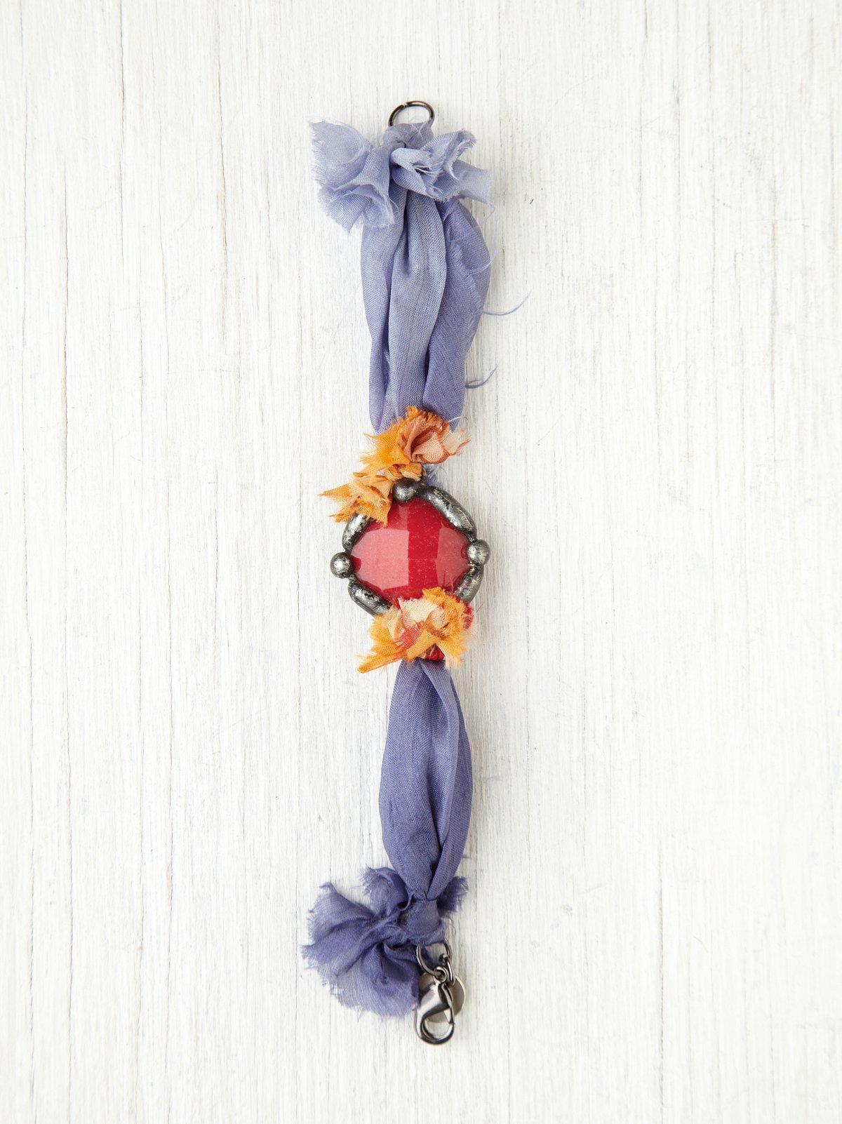 Stone and Silk Bracelet