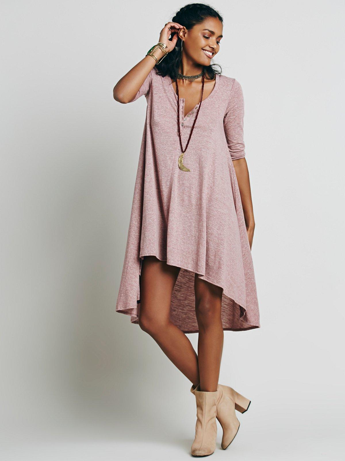 垂感针织连衣裙
