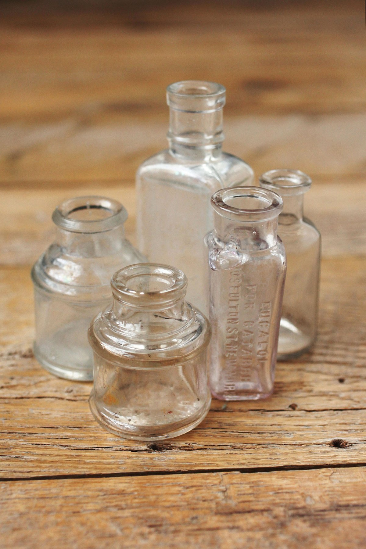 Vintage Small Glass Bottle