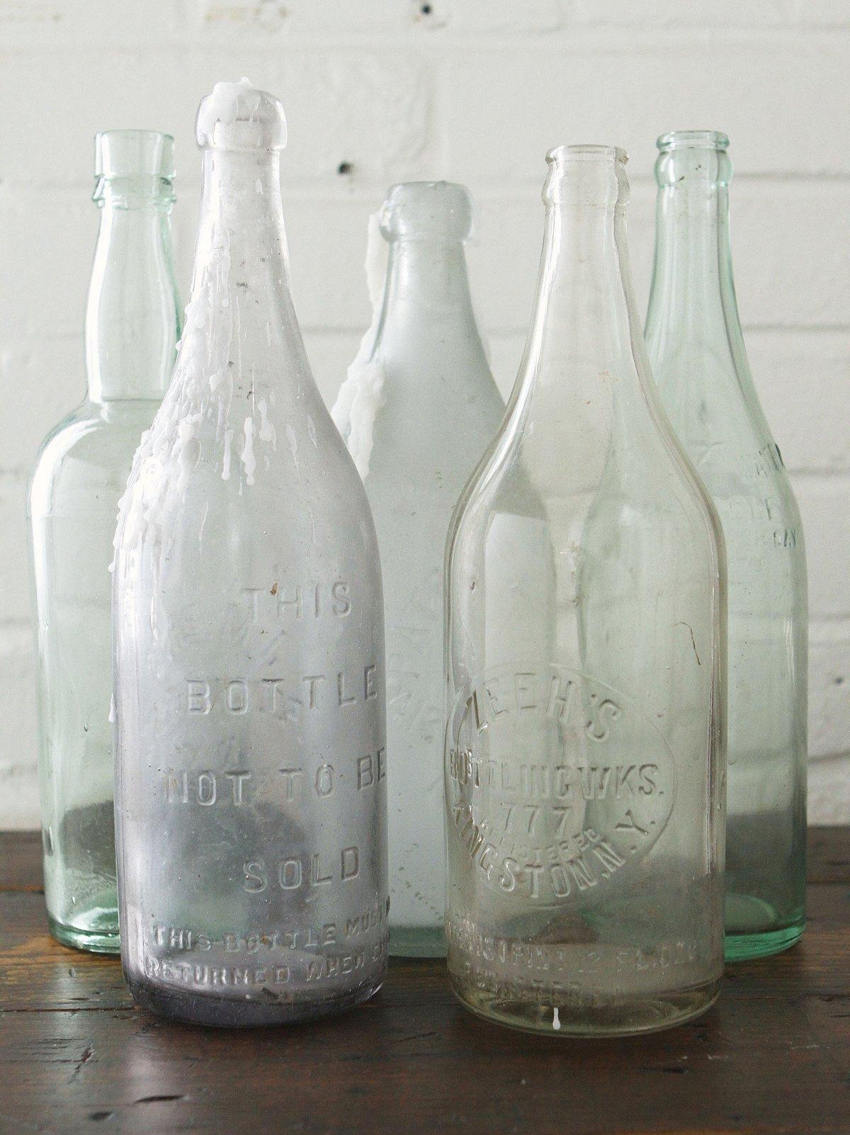 Vintage Large Glass Bottle