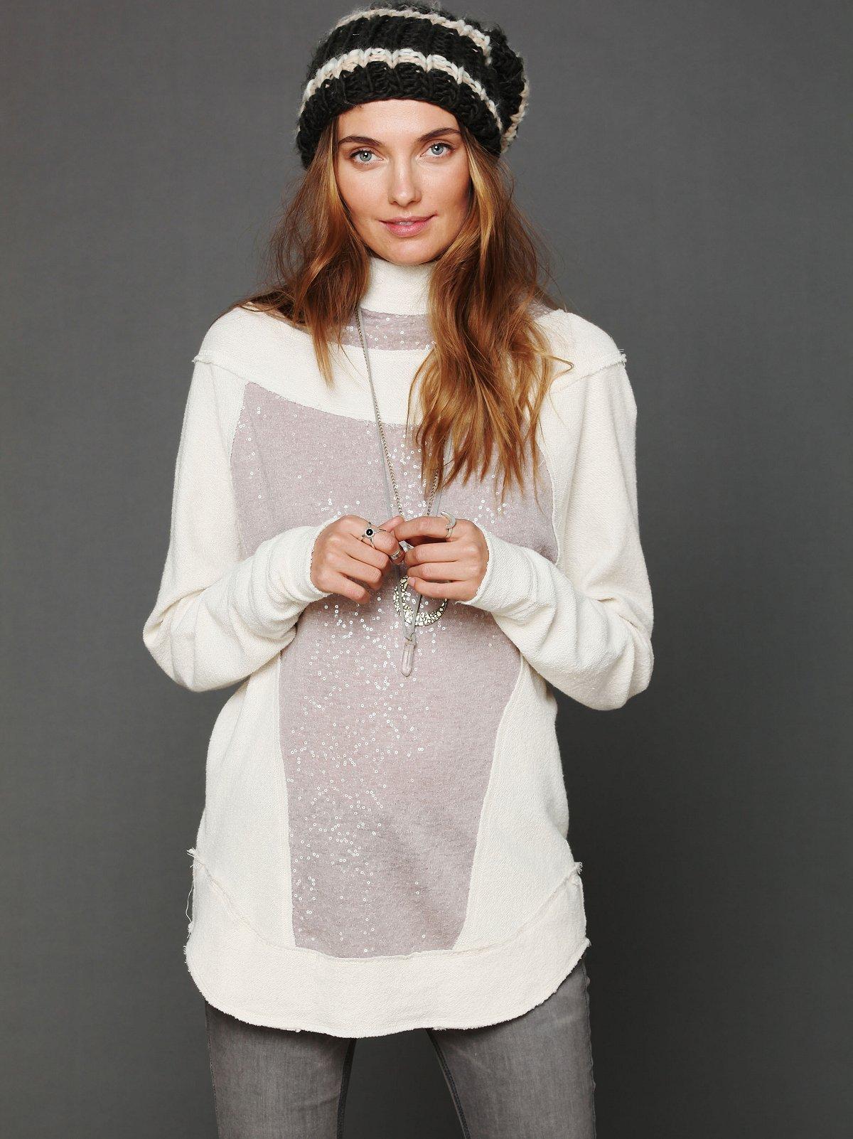 Sequin Swash Pullover Hoodie