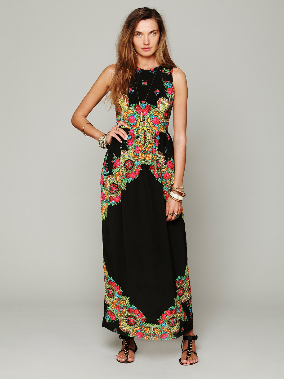 Gypsy Maxi Printed Dress