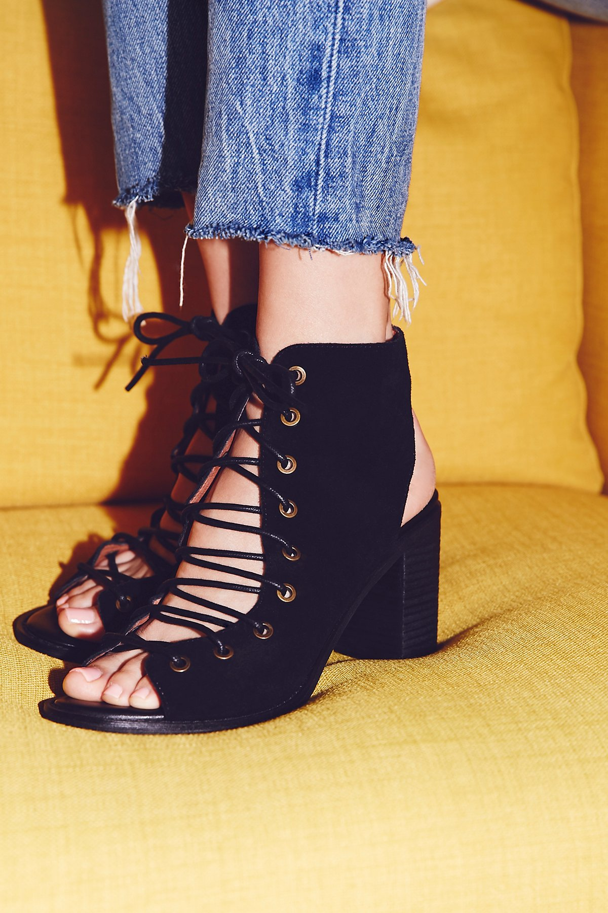Jeffrey Campbell X Free People Minimal Lace Up Heel At
