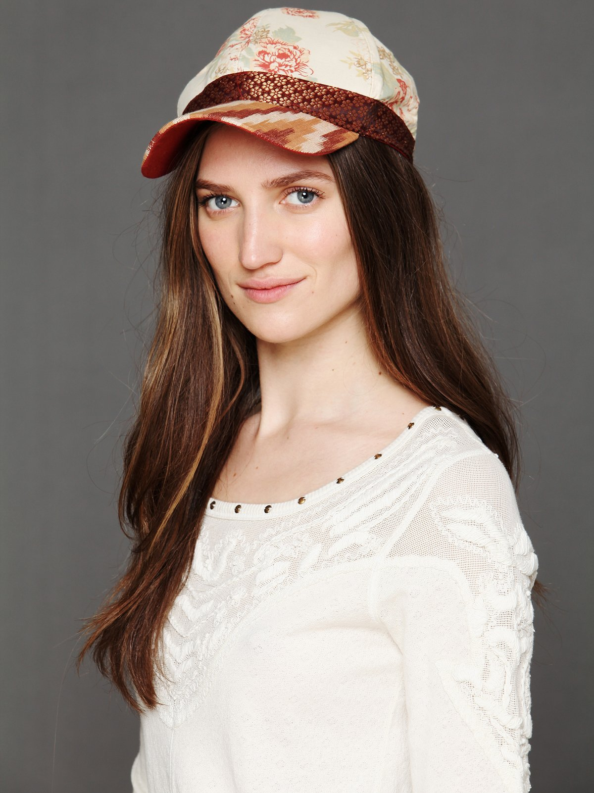 Ikat Embroidery Baseball Hat