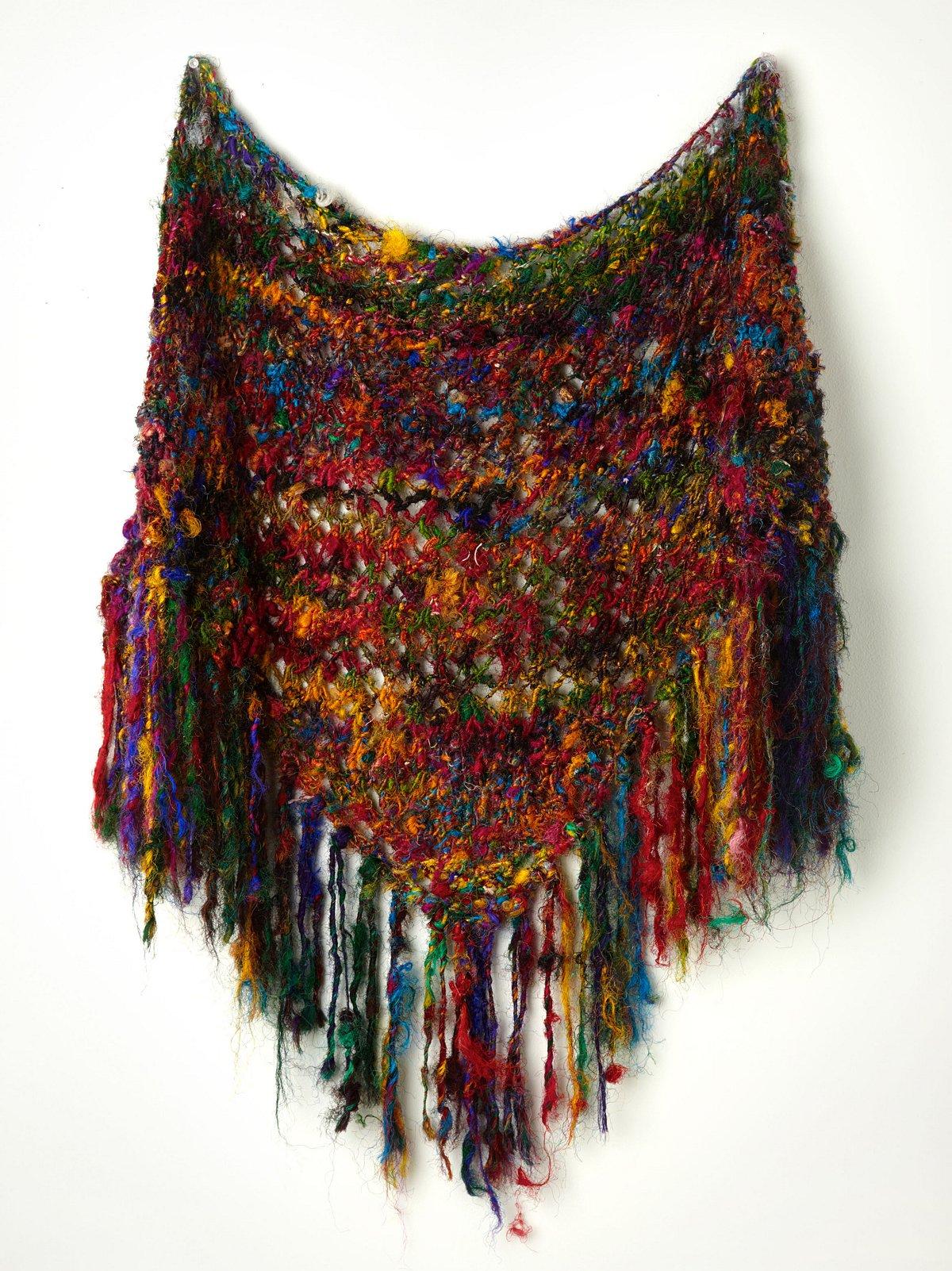 Silk Sari Triangle Scarf