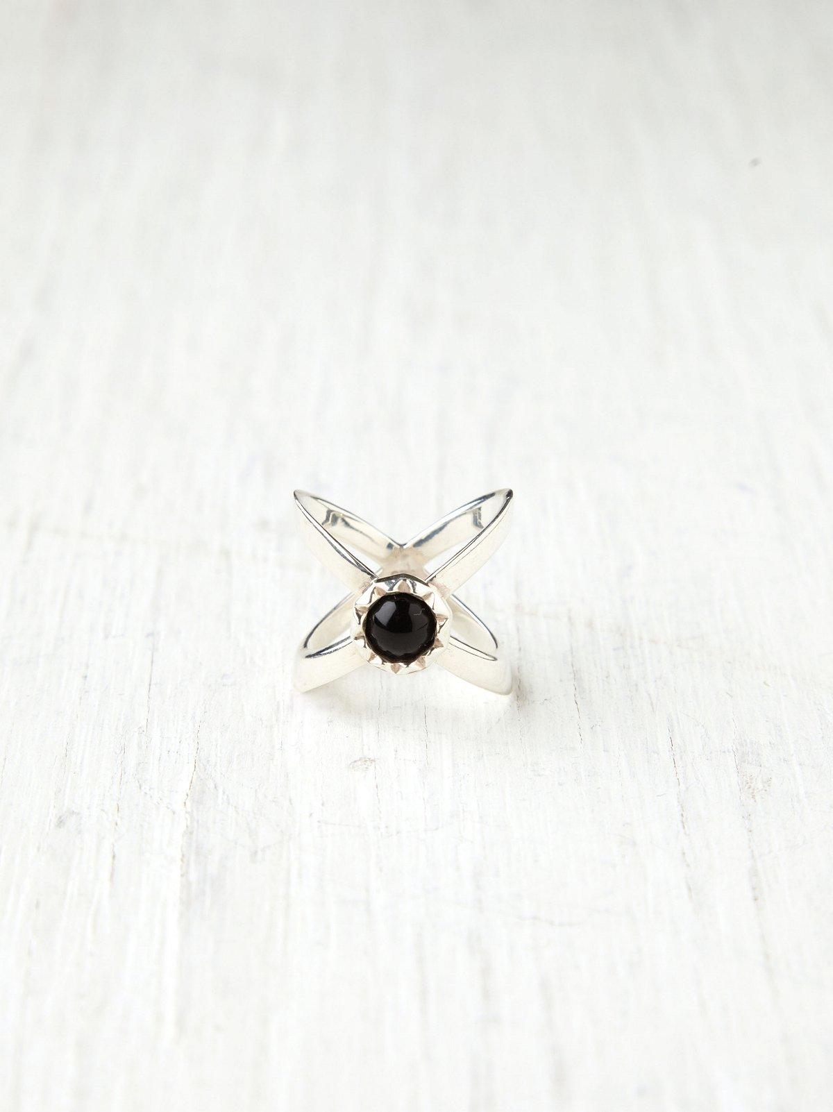 Onyx Interlock Ring