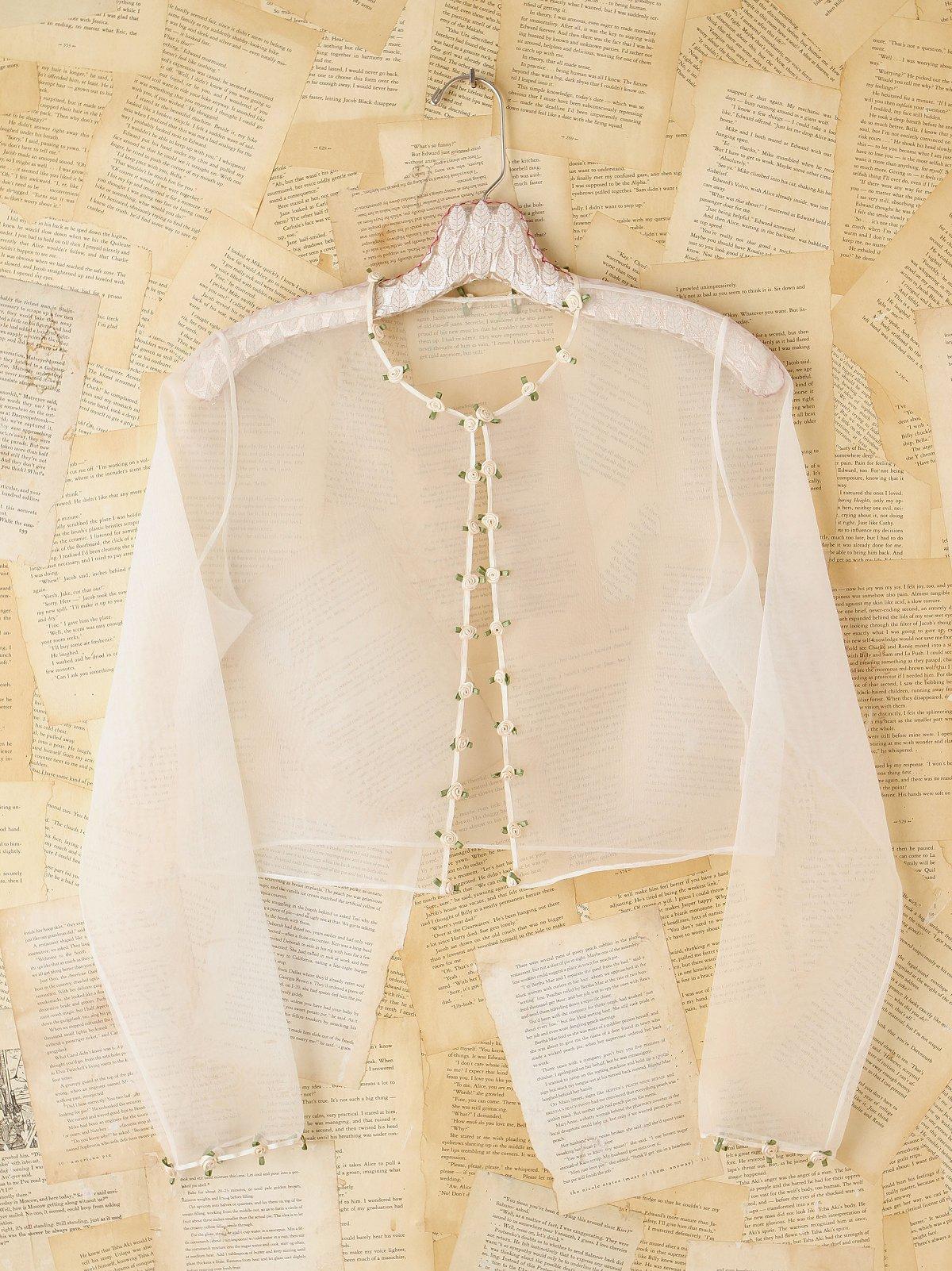 Vintage Sheer Rosette Cardigan