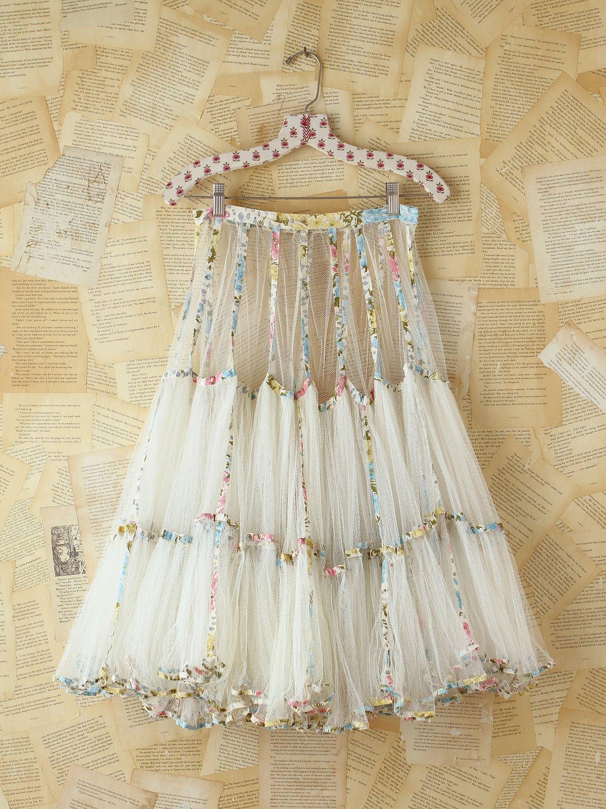 Vintage White Mesh Skirt