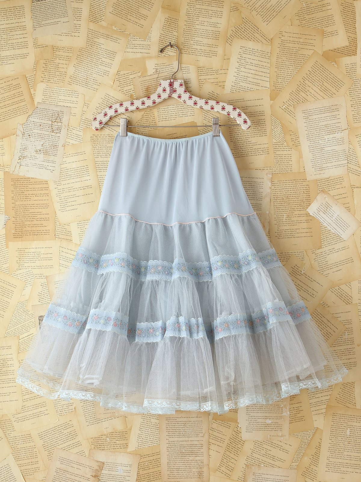 Vintage Tiered Mesh Skirt