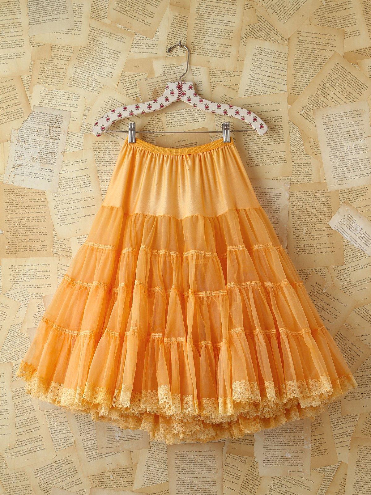 Vintage Orange Tiered Skirt