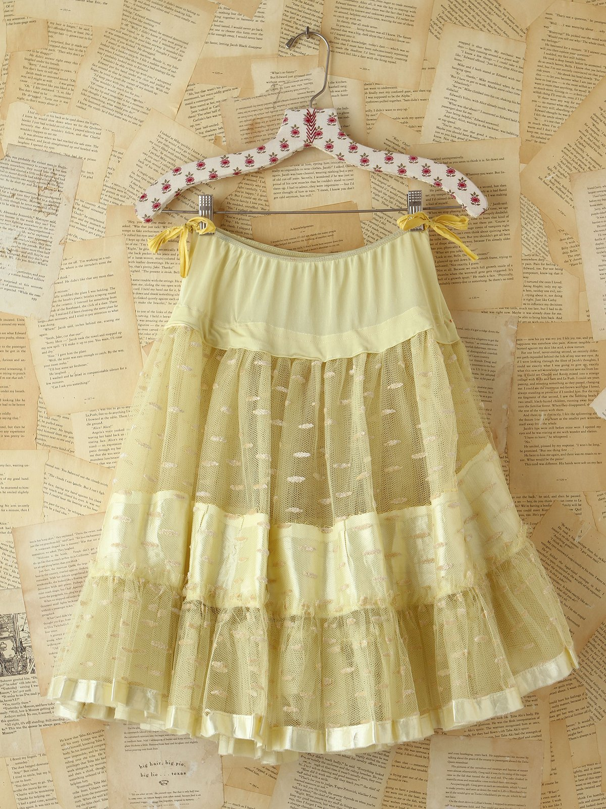Vintage Yellow Mesh Skirt