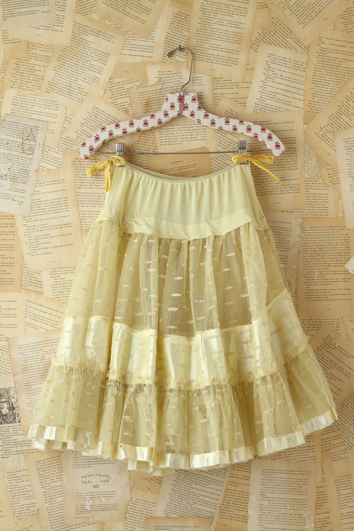 Vintage Yellow Mesh Skirt