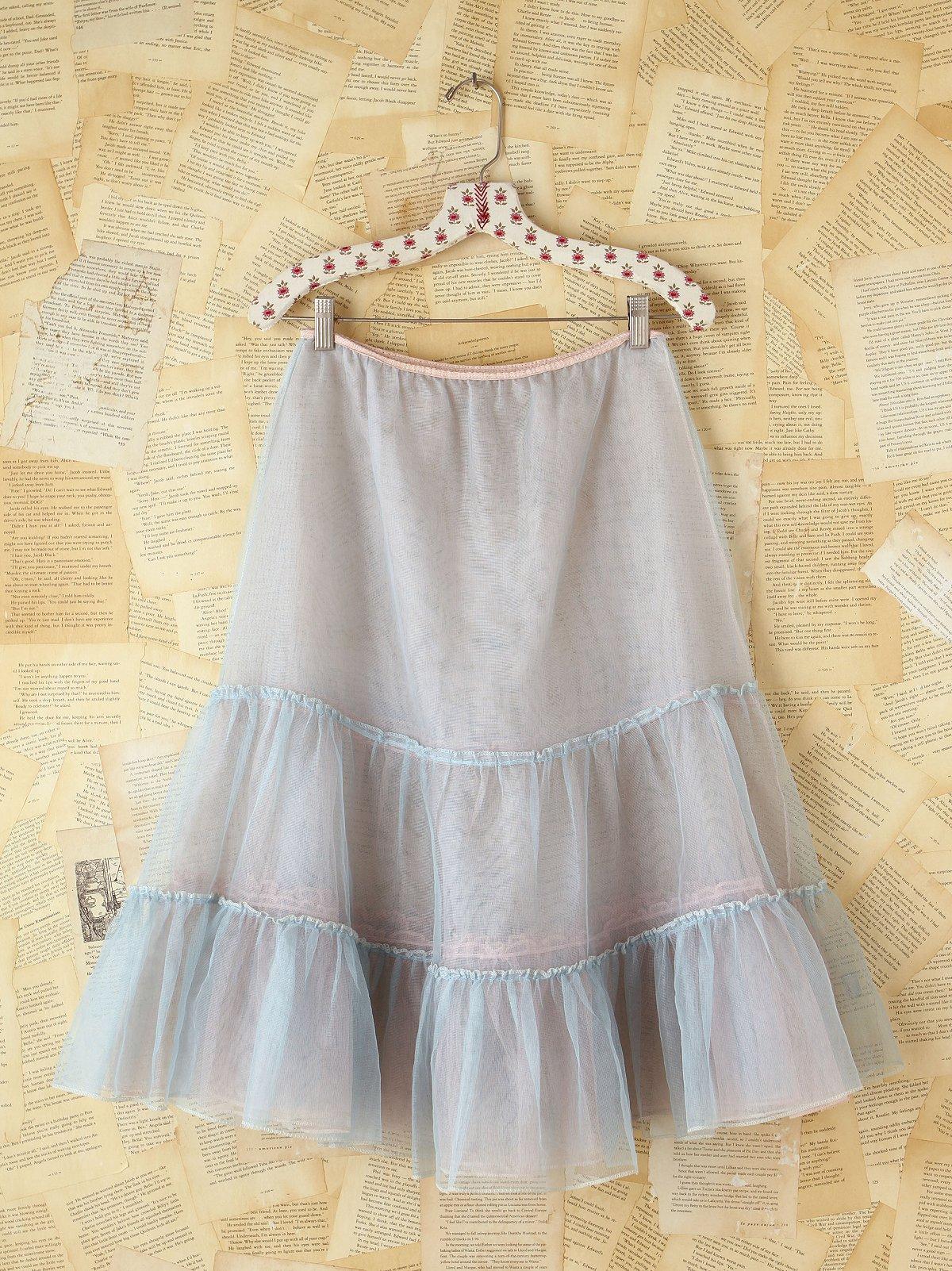 Vintage Blue Mesh Skirt