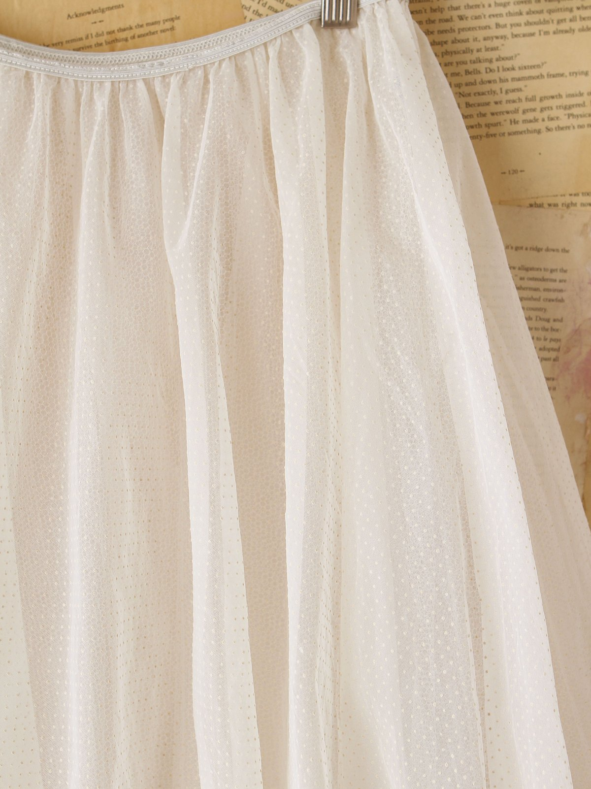 Vintage White Tulle Skirt