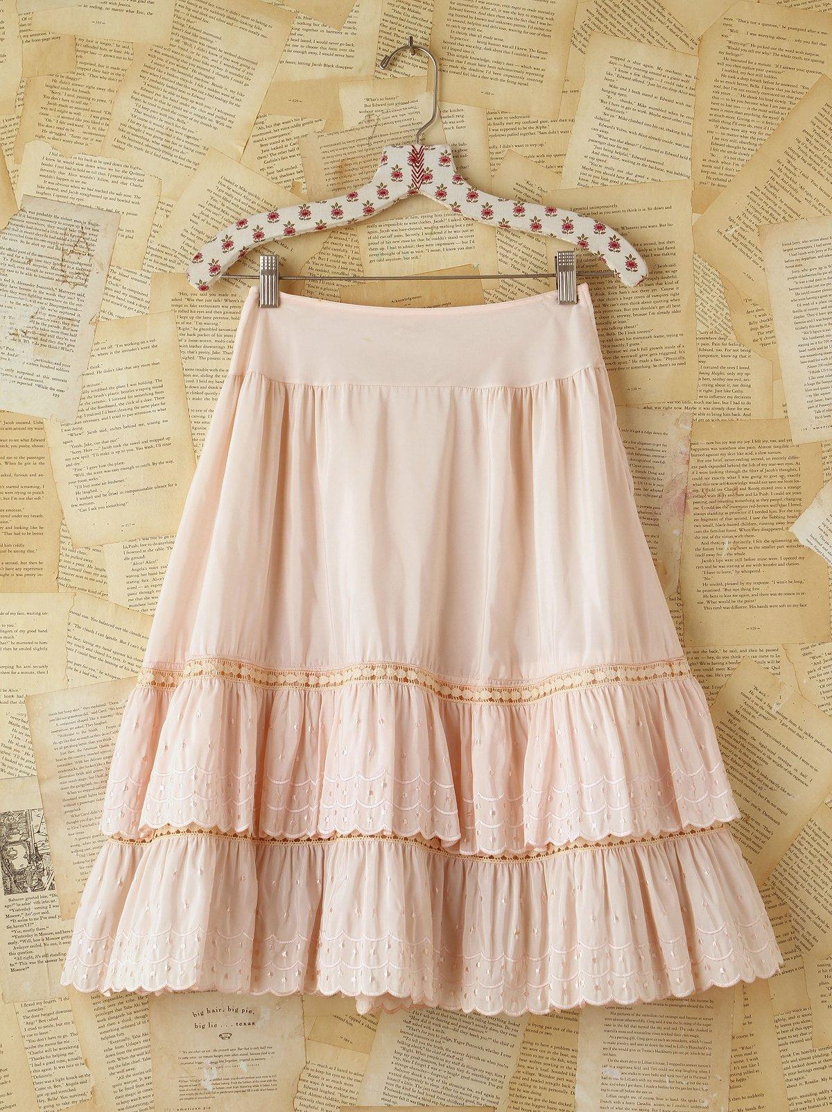 Vintage Pink Layered Skirt