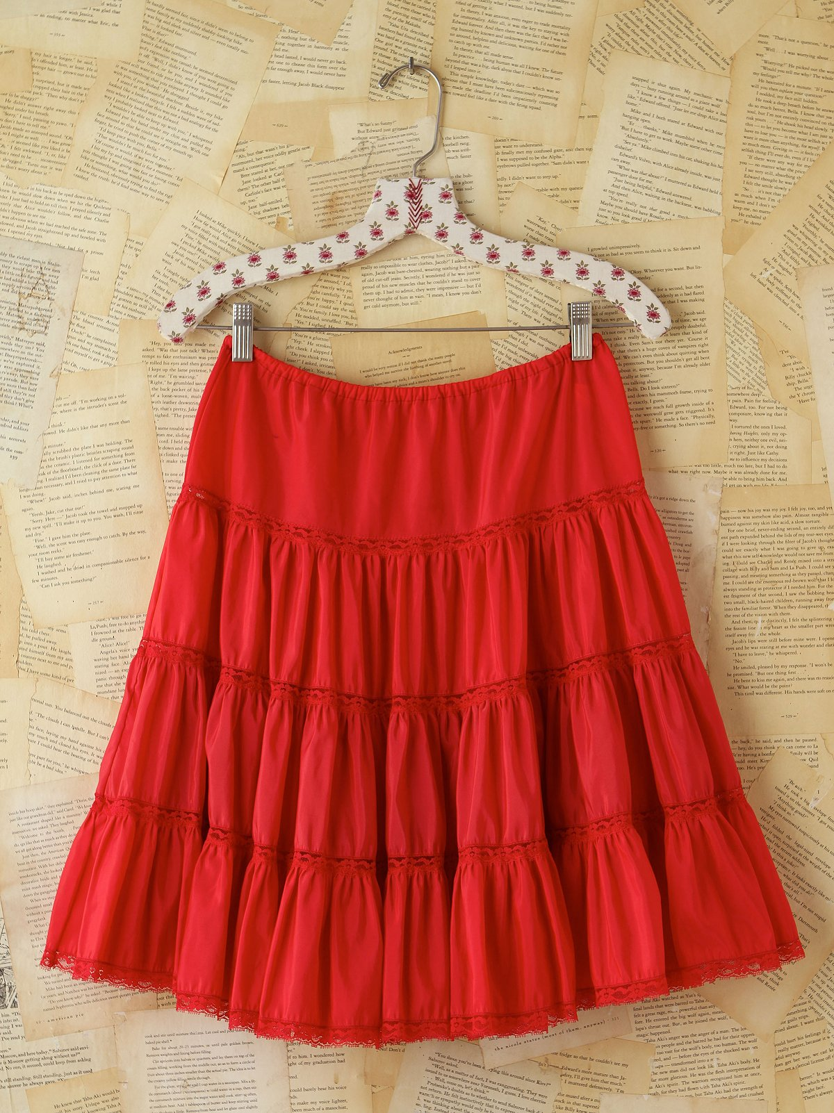 Vintage 1950s Red Tulle Skirt