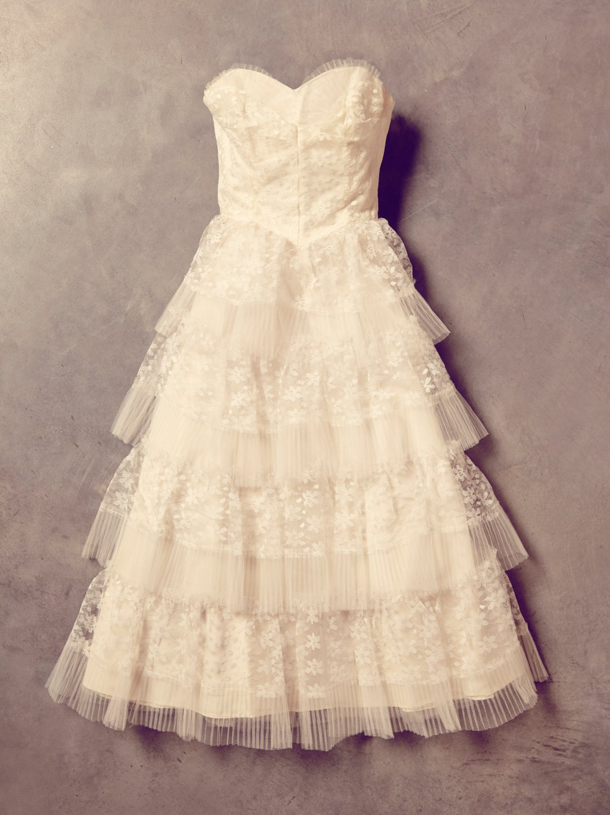 Vintage White Lace and Tulle Dress
