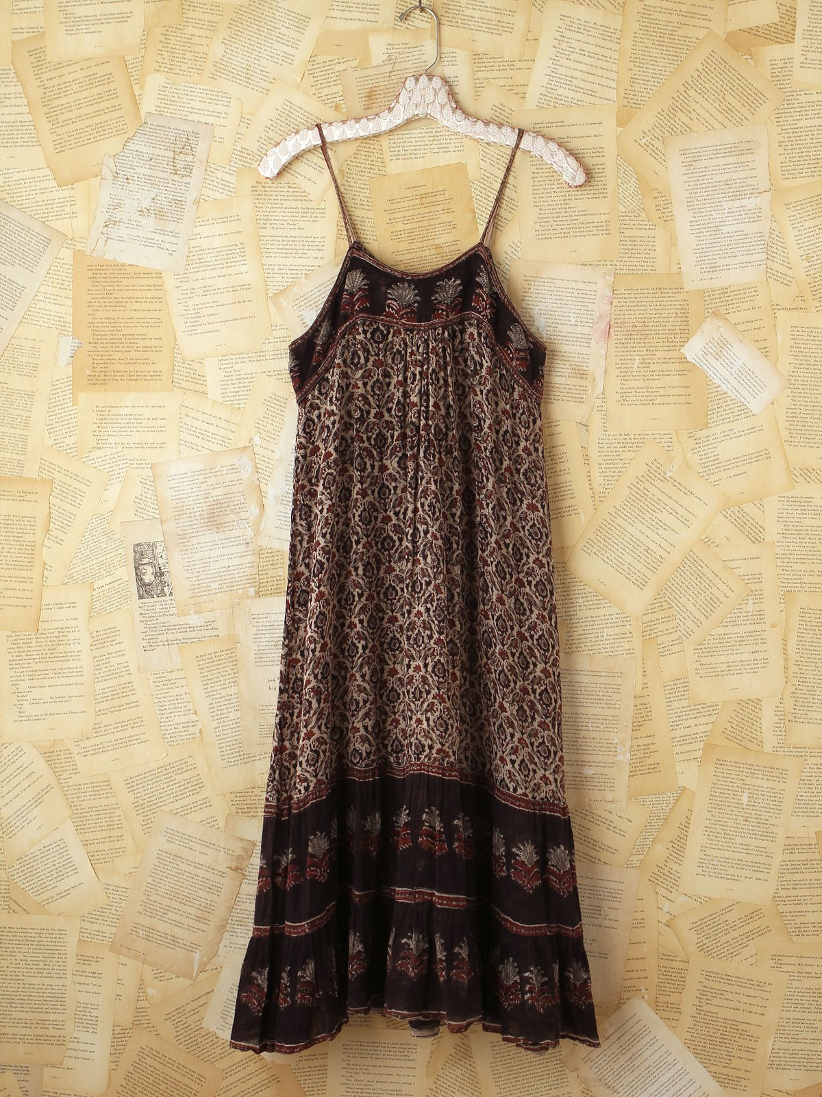Vintage Boho Printed Gauzy Dress