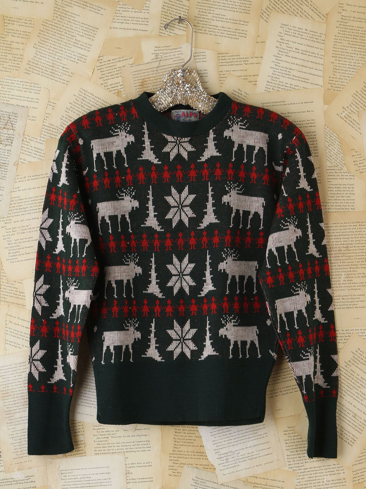 Vintage Reindeer Patterned Sweater