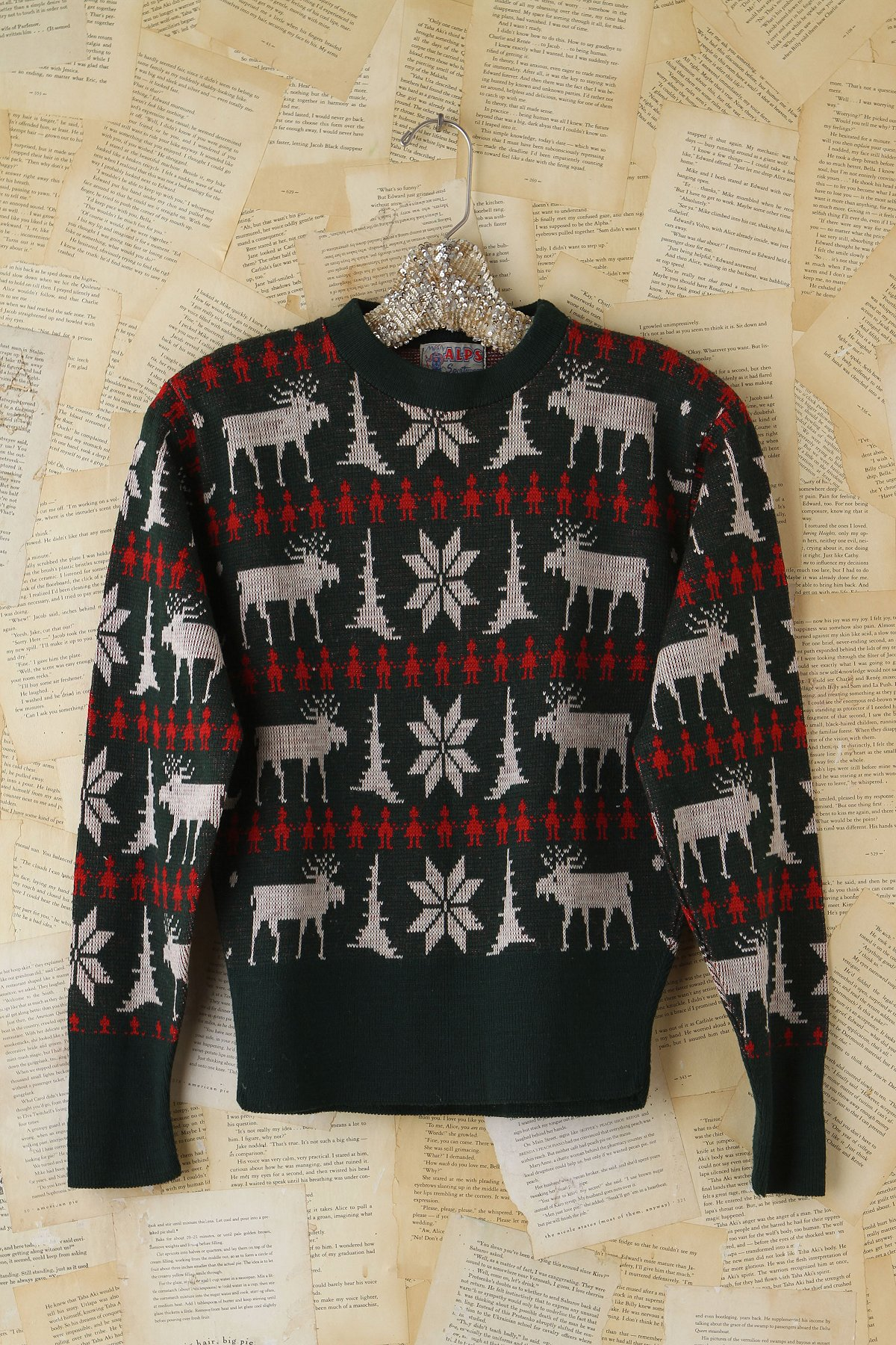 Vintage Reindeer Patterned Sweater