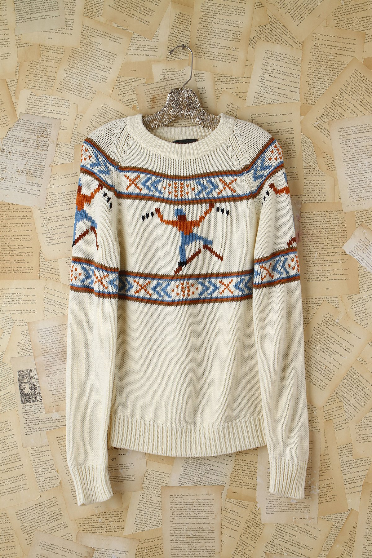 Vintage Knitted Skier Sweater